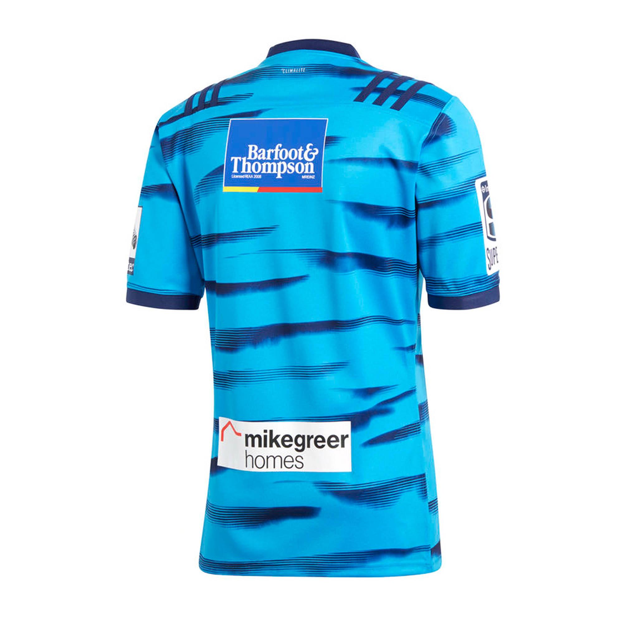 69230d7d3ba Details about adidas Blues 2018 Mens Home Replica Super Rugby Jersey Shirt  Blue