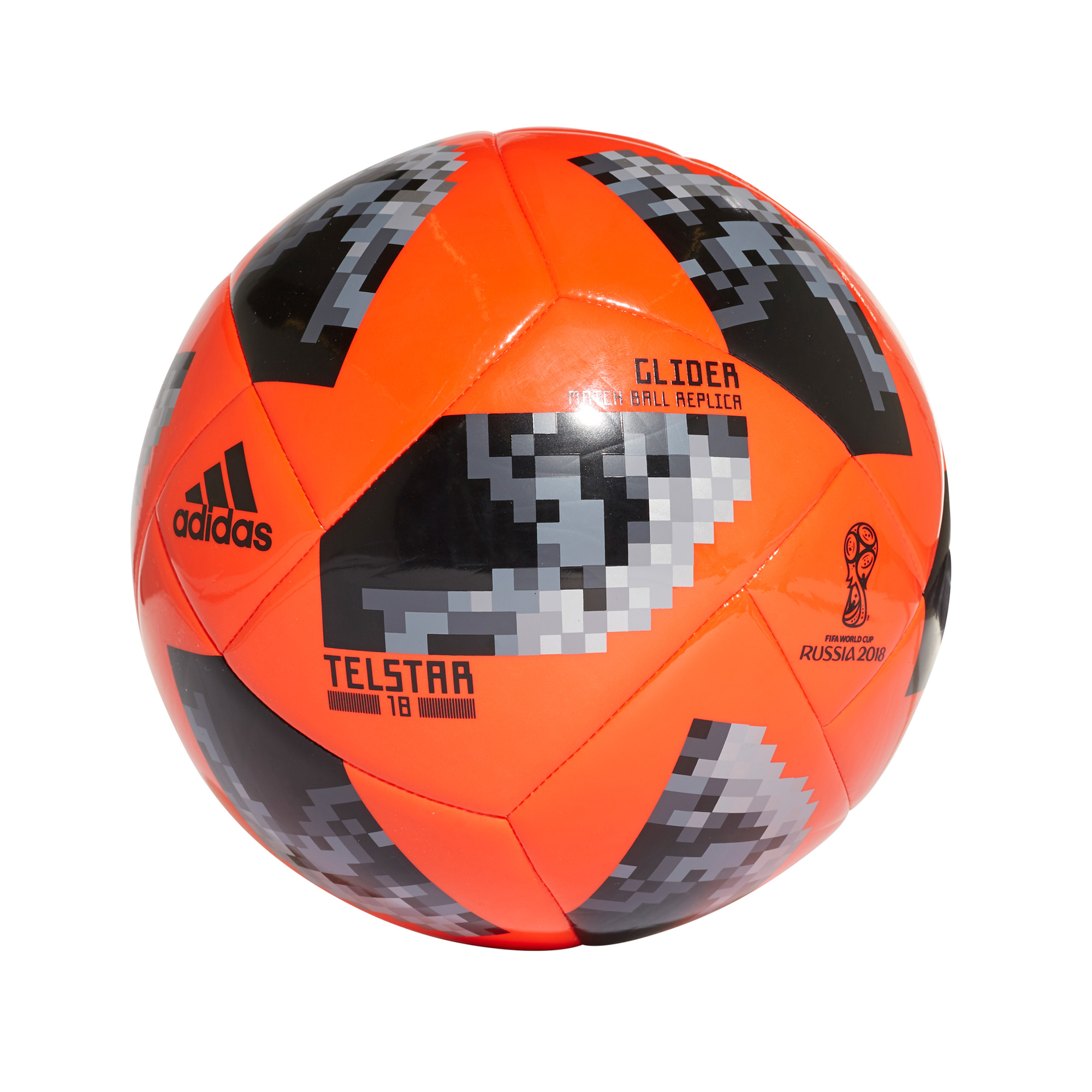 dbb8f234b adidas Telstar Fifa World Cup 2018 Glider Football Soccer Ball Solar  Red/Black