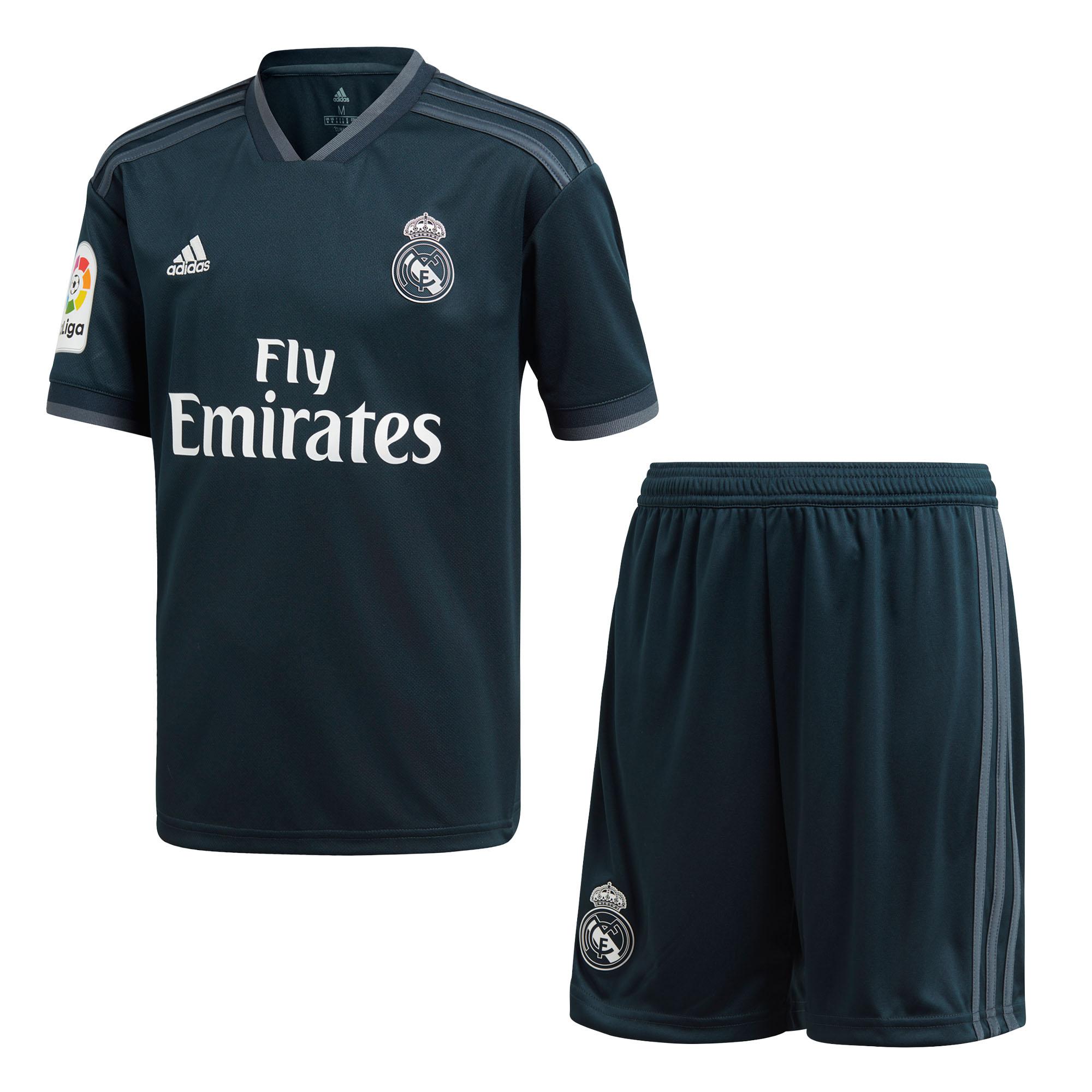 Adidas Real Madrid 2018 19 Niño Away la Liga Equipo Fútbol Juego ... aa653d45d0cd5