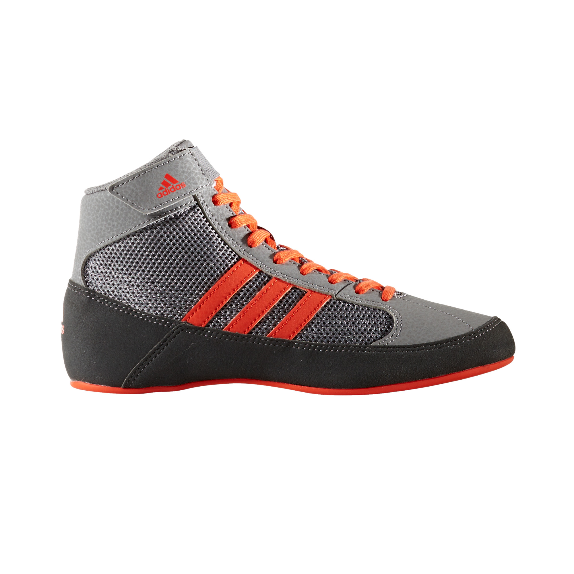 brand new 4d57c 666be Details about adidas Havoc Kids Junior Wrestling Trainer Shoe Boot Grey Red