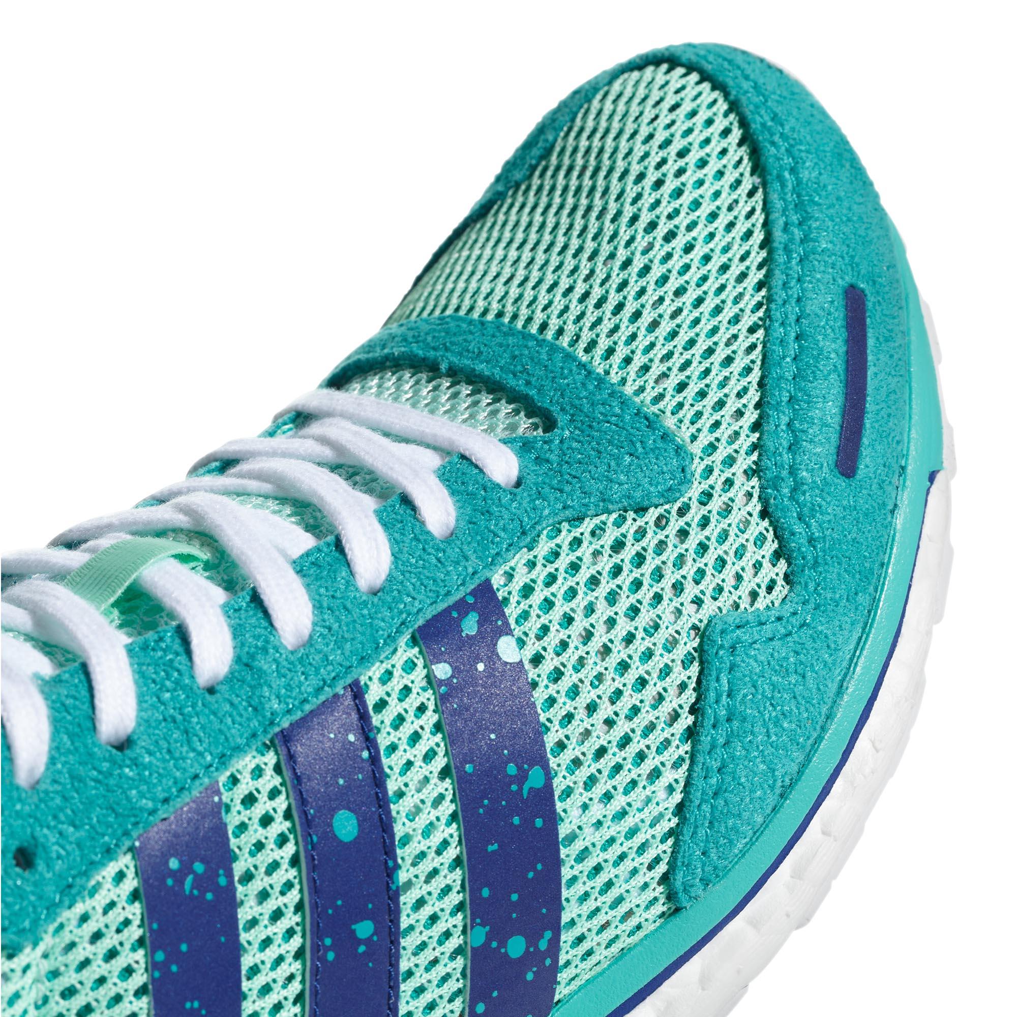 adidas adiZero Adios 3 Womens Running Trainer Shoe Mint  ce9de3e53