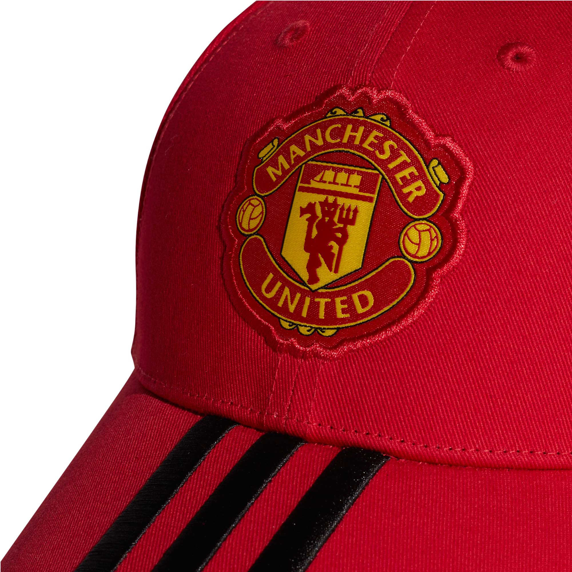 adidas Manchester United 3-Stripe Mens Kids Football Cap Hat Red  befee83ca482