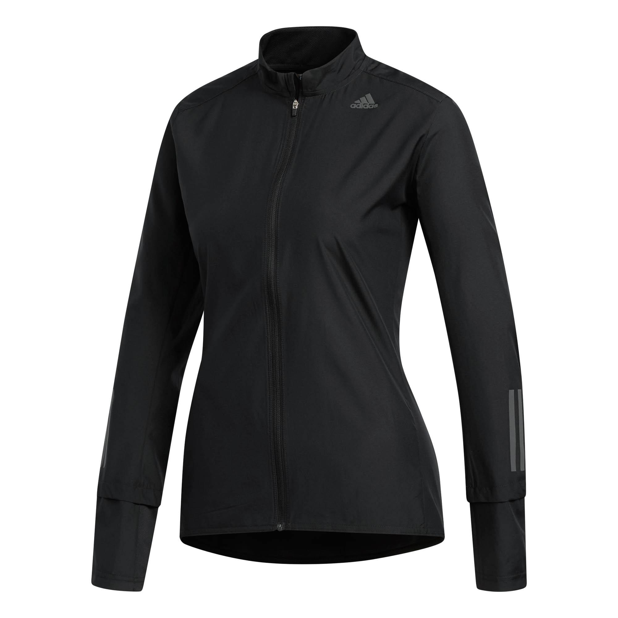 de Chaqueta UK 8 10 Fitness Response Correr Negro Detalles Mujer Adidas MUSzVGjLqp