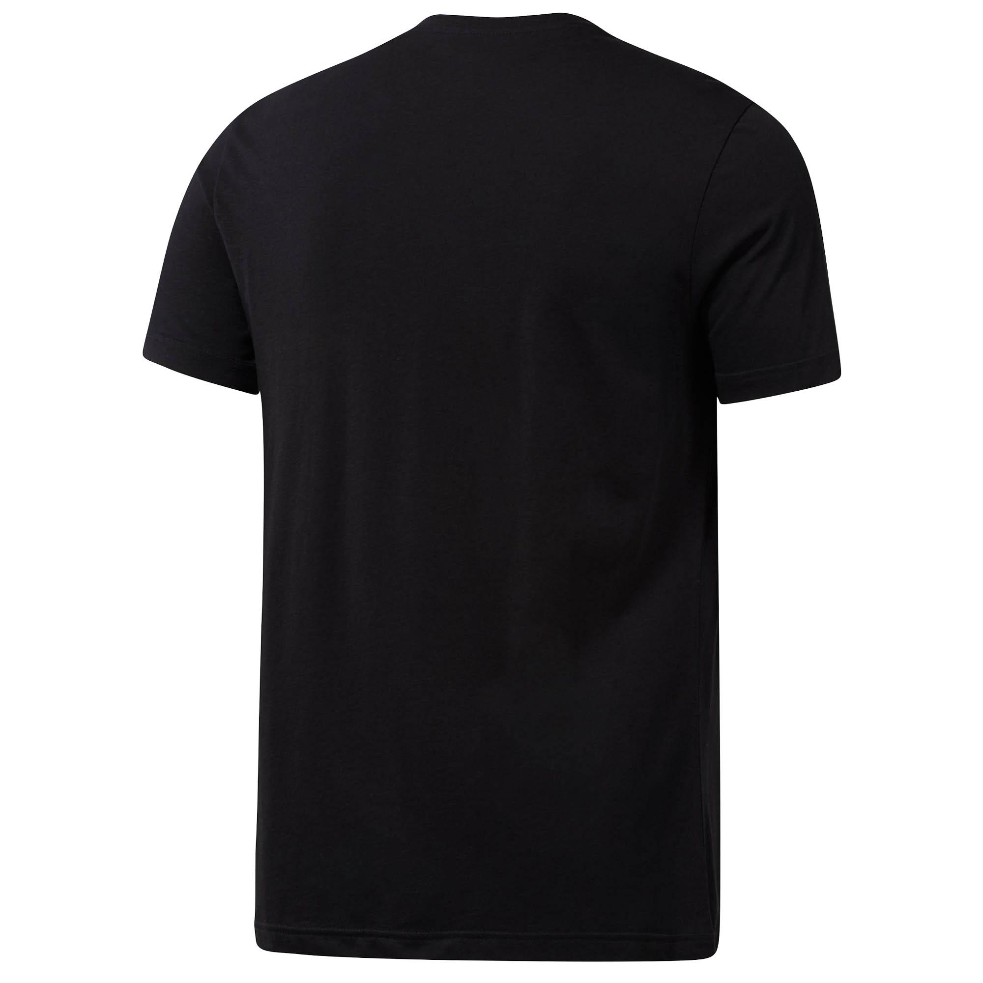 Reebok-UFC-MMA-Text-Mens-Training-Fitness-Fight-T-Shirt-Tee-Black thumbnail 4