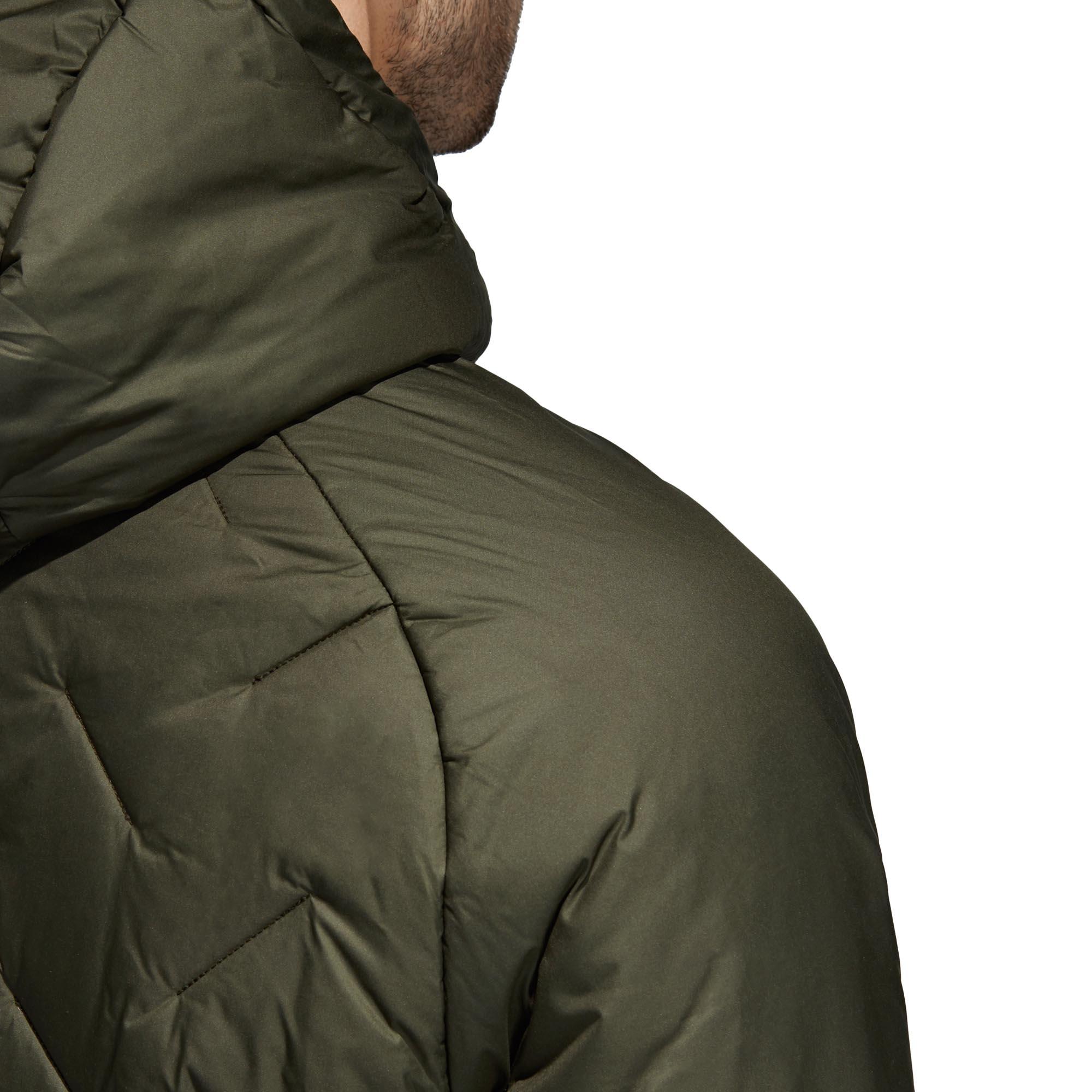 adidas-BTS-Winter-Mens-Padded-Water-Repellant-Hooded-Coat-Jacket-Green thumbnail 9
