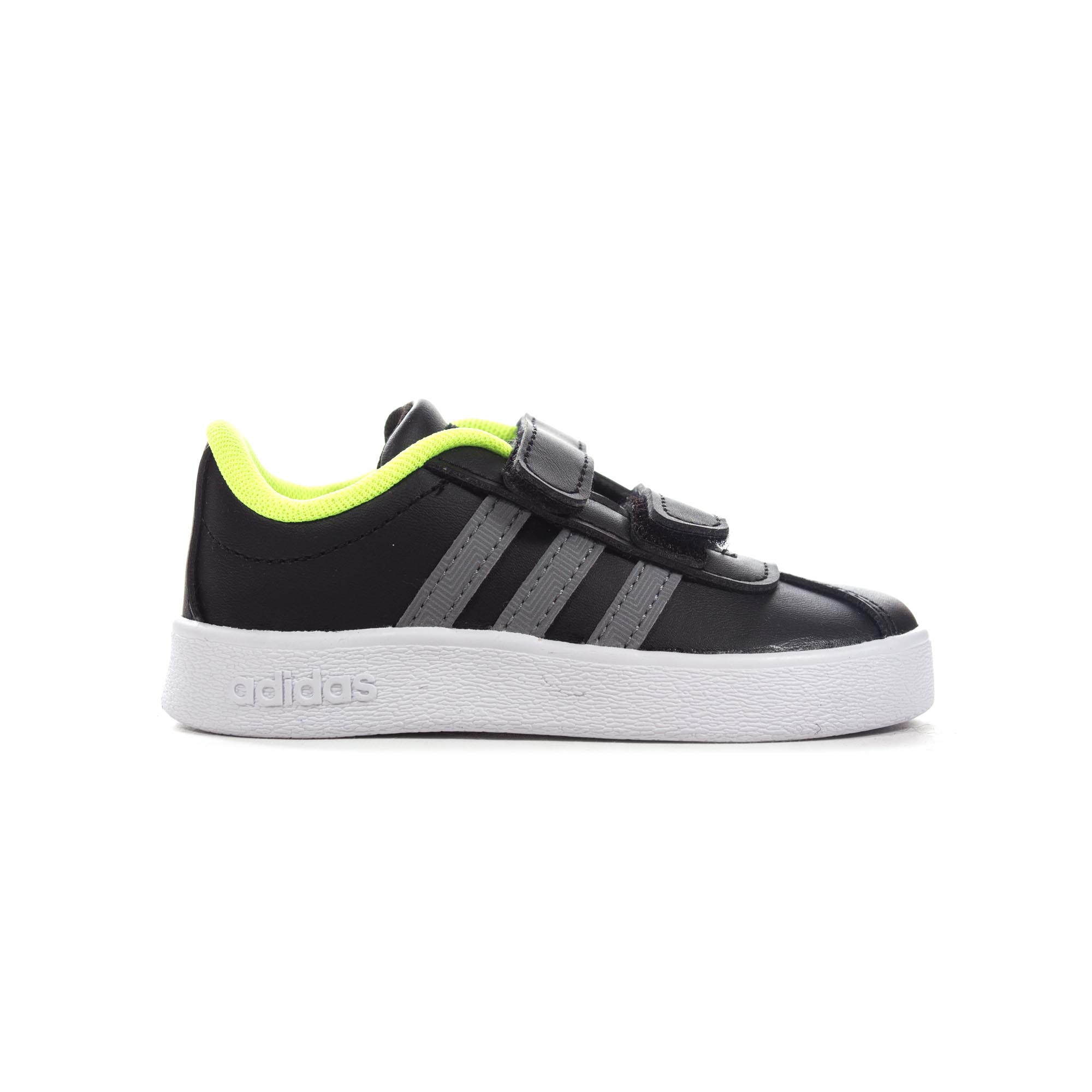 aa8f5feaa192 Details about adidas VL Court 2.0 Infant Kids Boys Sports Trainer Shoe Black  White
