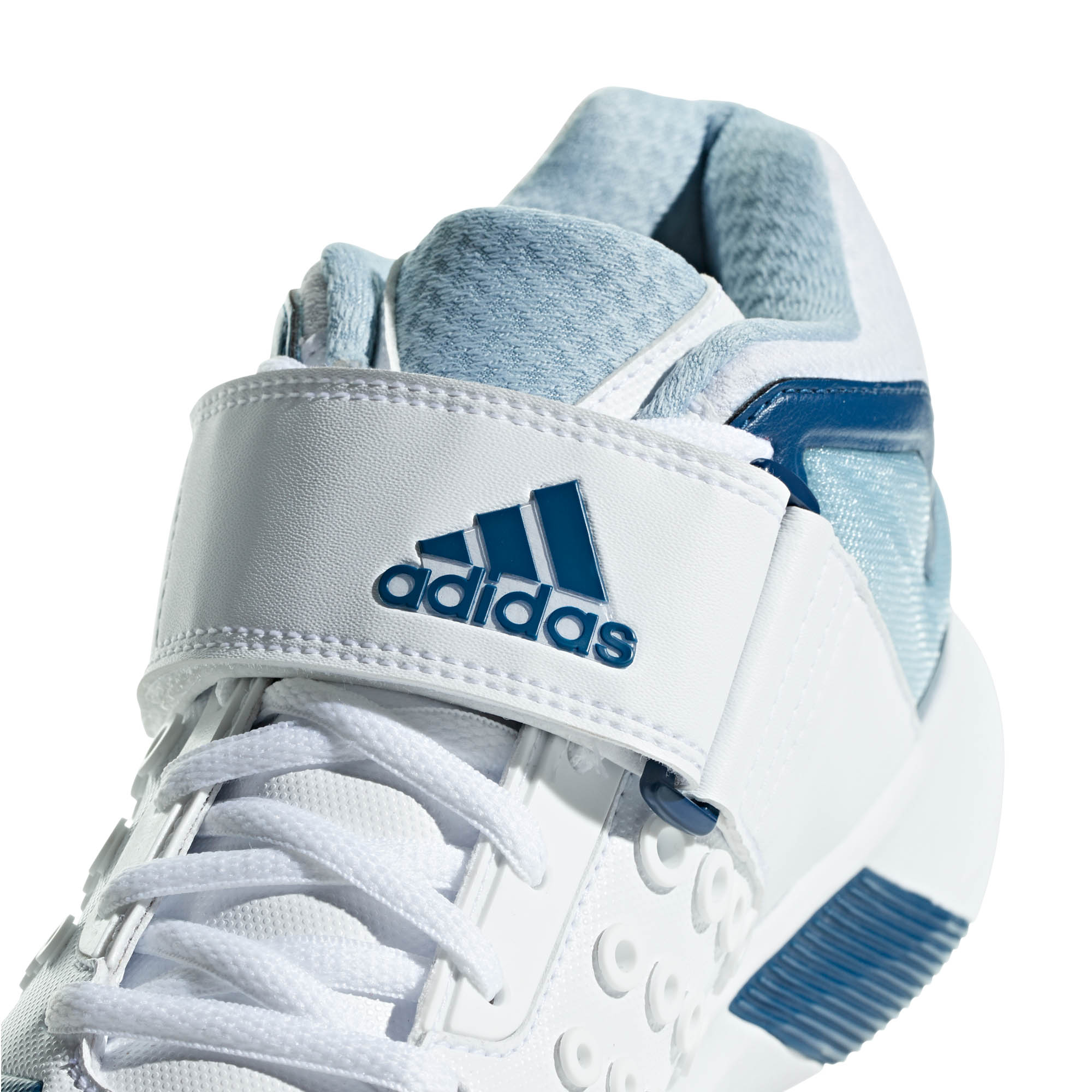 ADIDAS ADIDAS ADIDAS adiPower Vector MID da uomo adulto Cricket Trainer Spike Scarpa Bianco Blu f83d55
