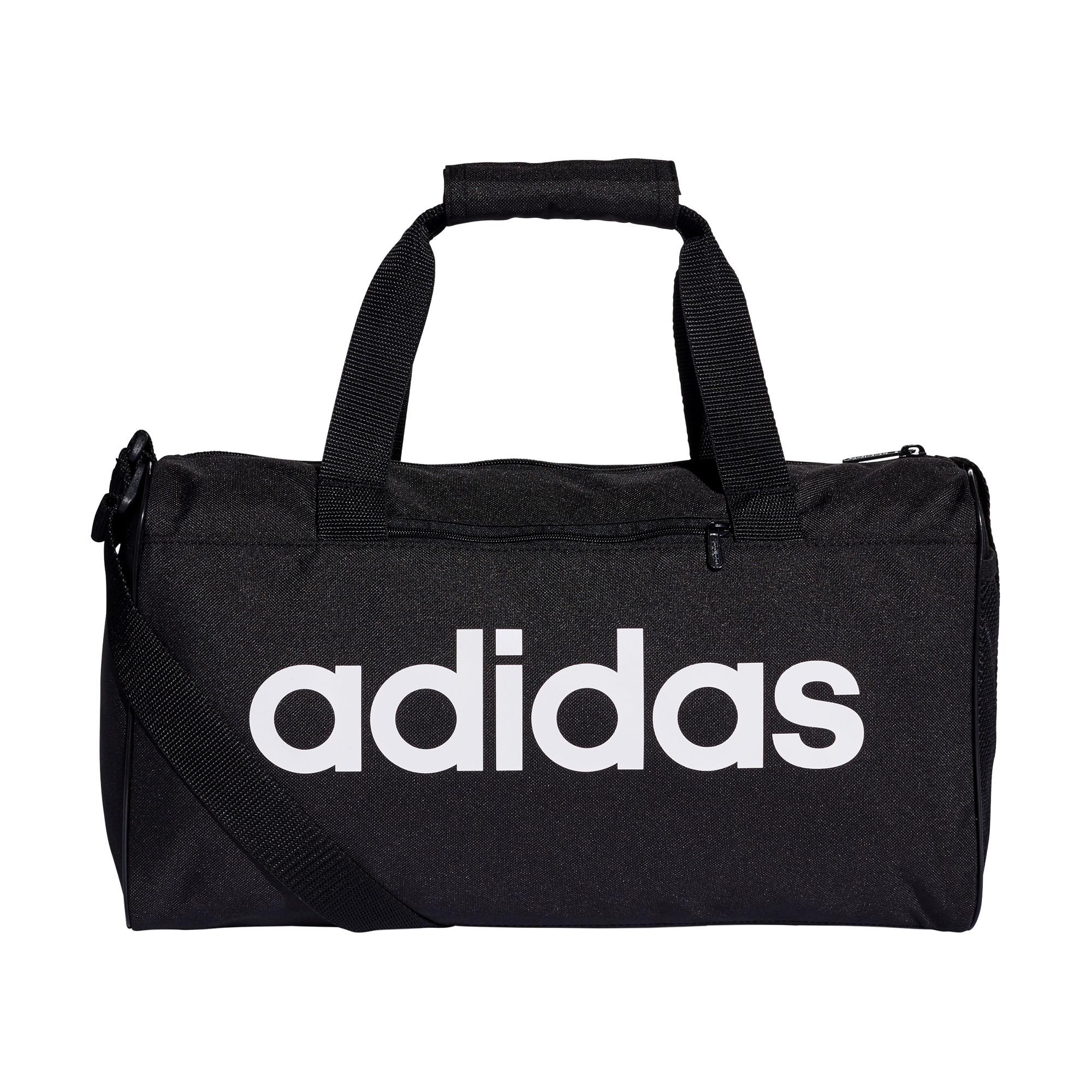Details about adidas Linear Core Team Duffel Holdall Training Bag (XS) Black  White 1348dde0fb24e