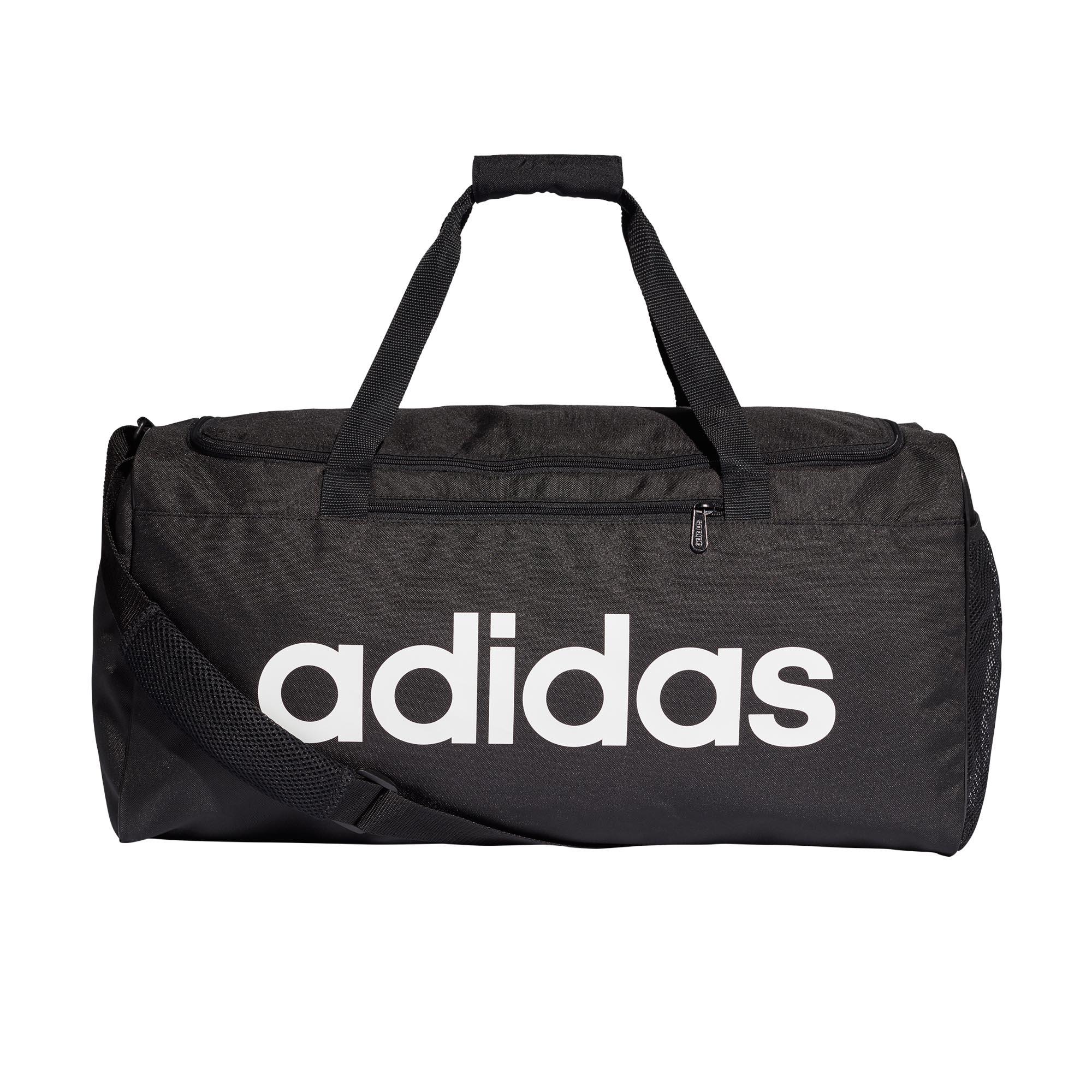 cd2cc498fced Details about adidas Linear Core Team Duffel Holdall Training Bag (Medium)  Black White