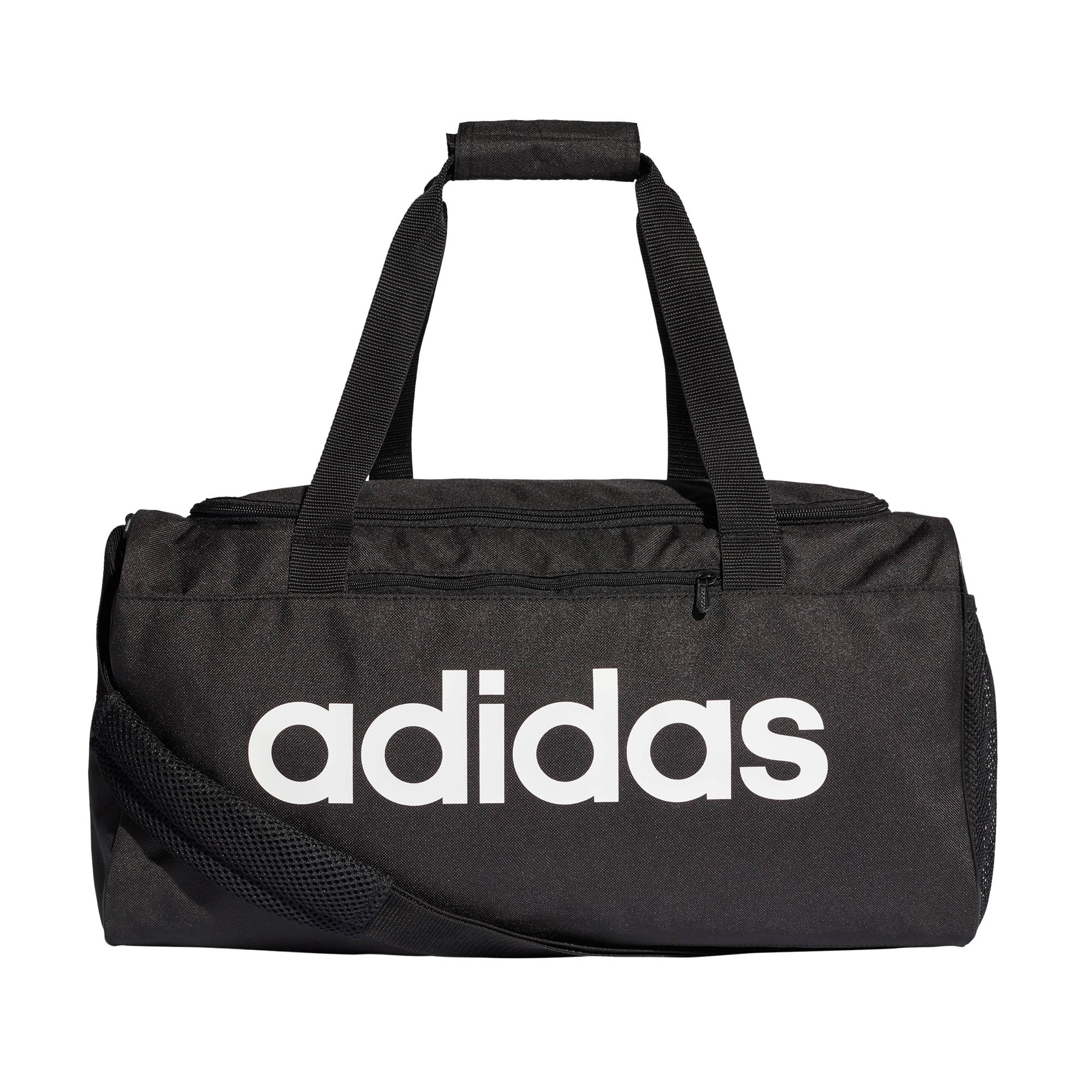 Details about adidas Linear Core Team Sports Gym Duffel Holdall Bag Small  Black White 44ae816184e0f