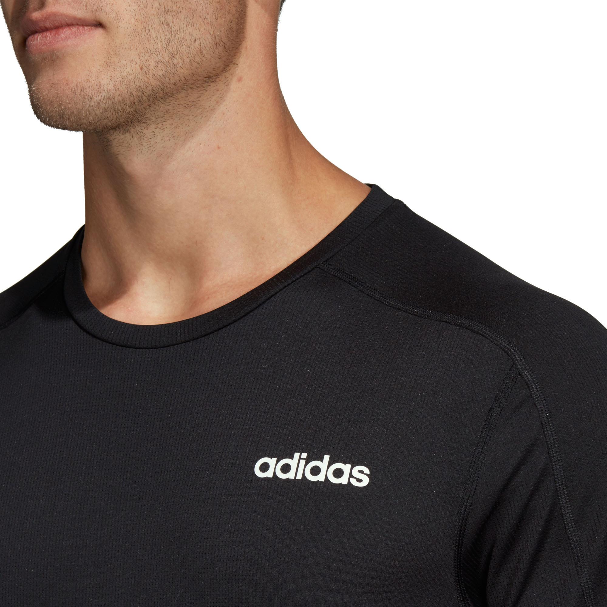 Détails sur Adidas D2M Hommes Course Sport Fitness T Shirt T Shirt Noir S