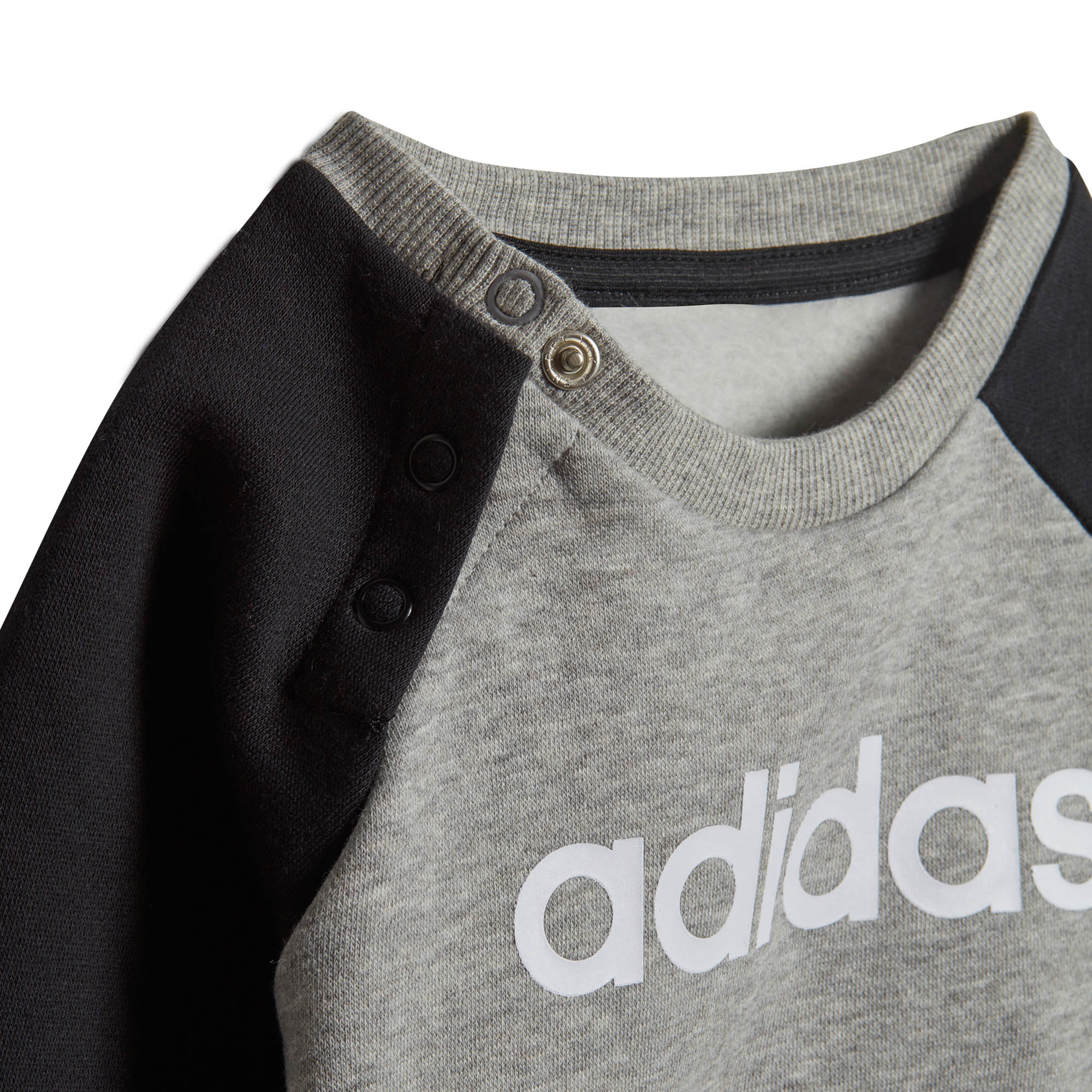 61959bd3c7689 Adidas linéaire Jogger Infant Toddler Kids cavalier pantalon survêtement  Set Black/Grey