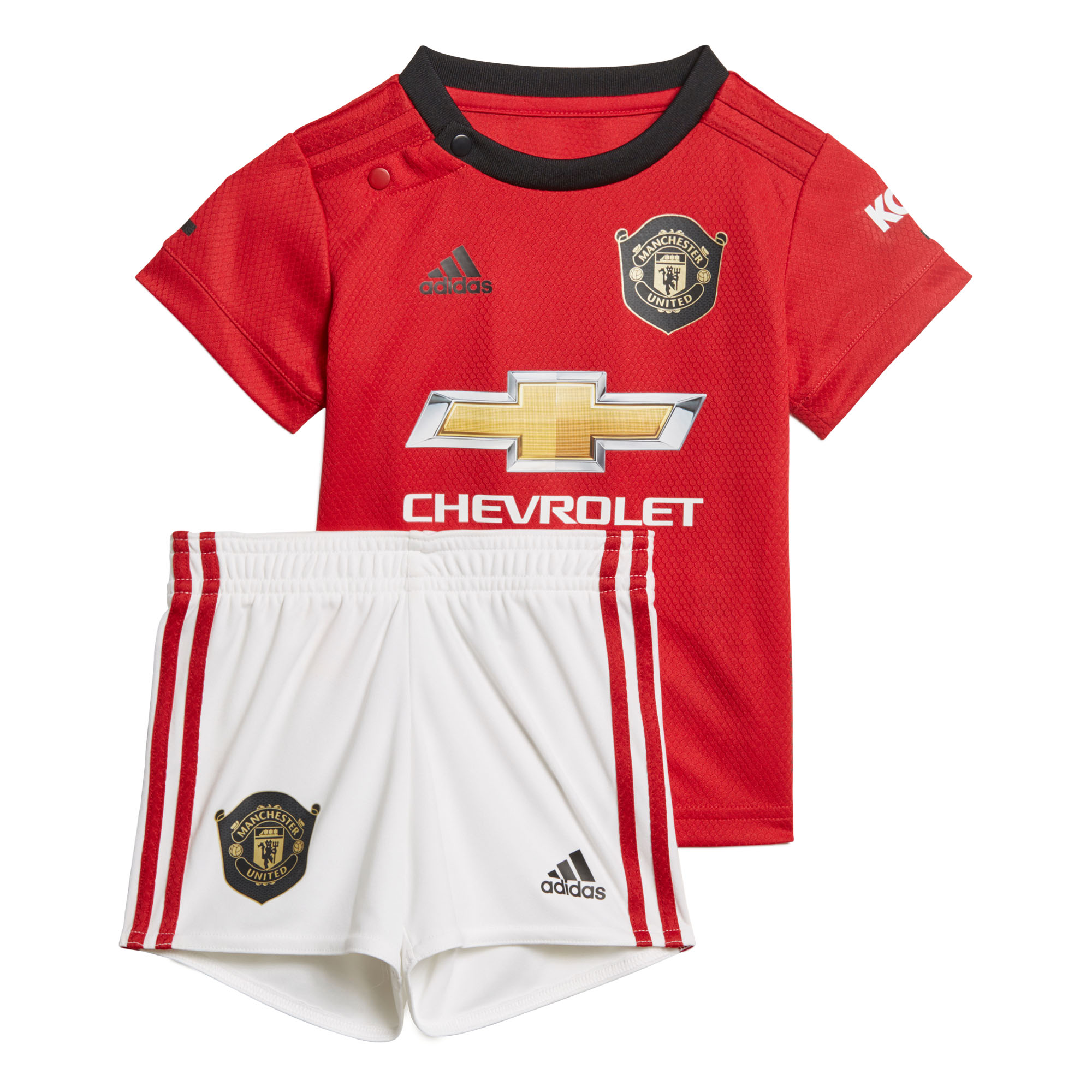 huge selection of 50bbb 1da7c Details about adidas Manchester United 2019/20 Kids Infant Baby Home  Football Kit Red