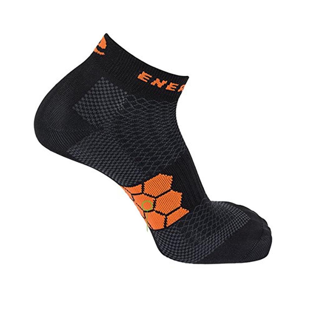 Enertor Energy Everyday Running Fitness Sports chaussettes 2 pack Noir//Orange