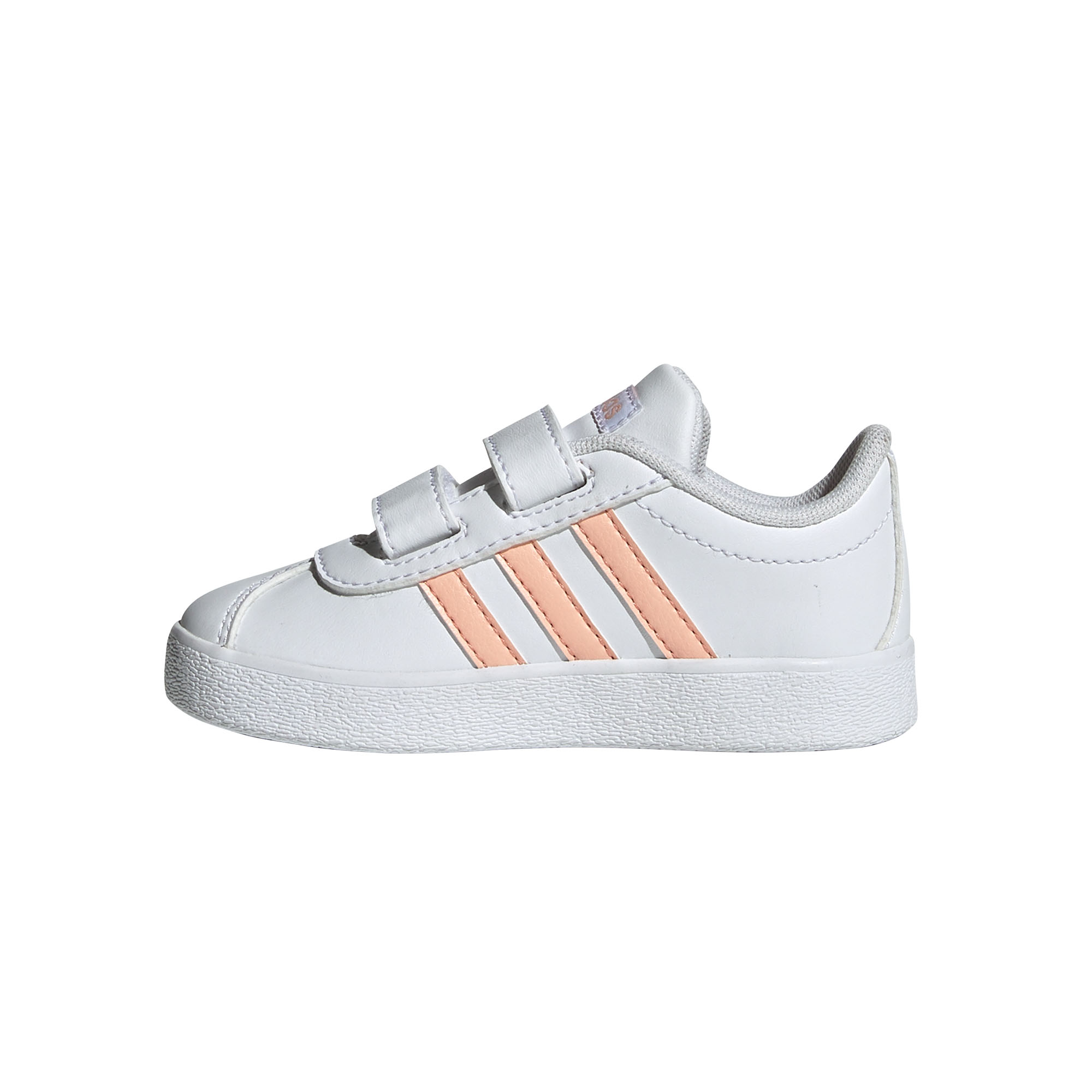 adidas VL Court 2.0 Infant Kids Boys Sports Trainer Shoe Black