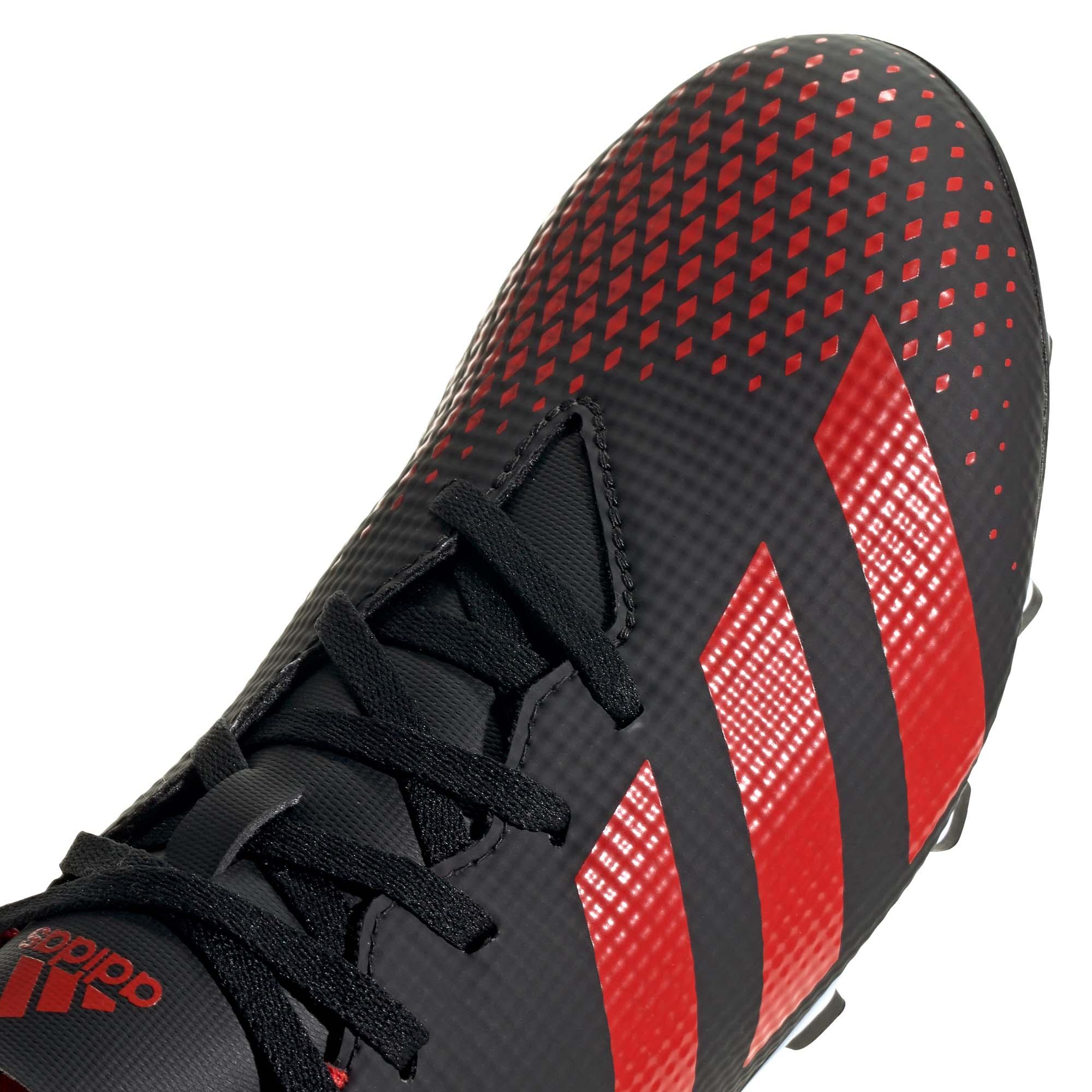 Adidas-Predator-20-4-FXG-Firm-Ground-pour-homme-Football-Boot-Noir-Rouge miniature 9