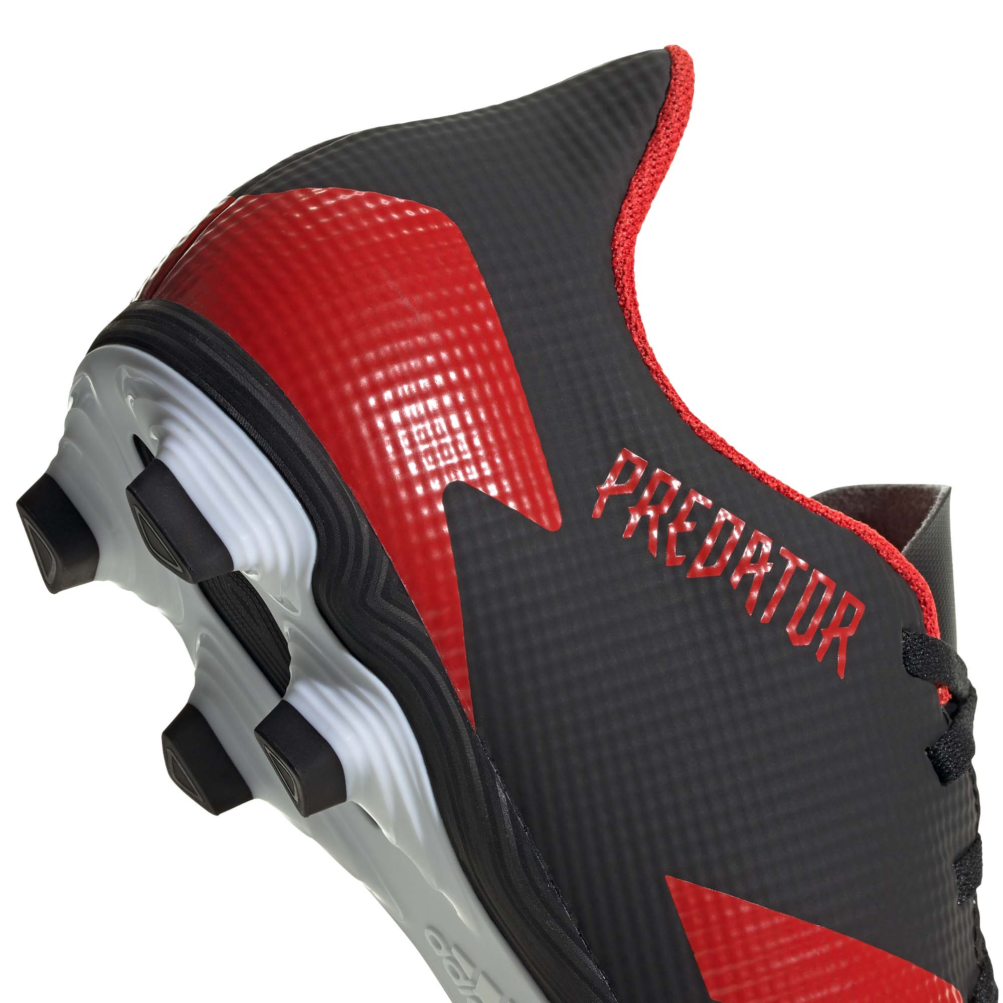 Adidas-Predator-20-4-FXG-Firm-Ground-pour-homme-Football-Boot-Noir-Rouge miniature 10