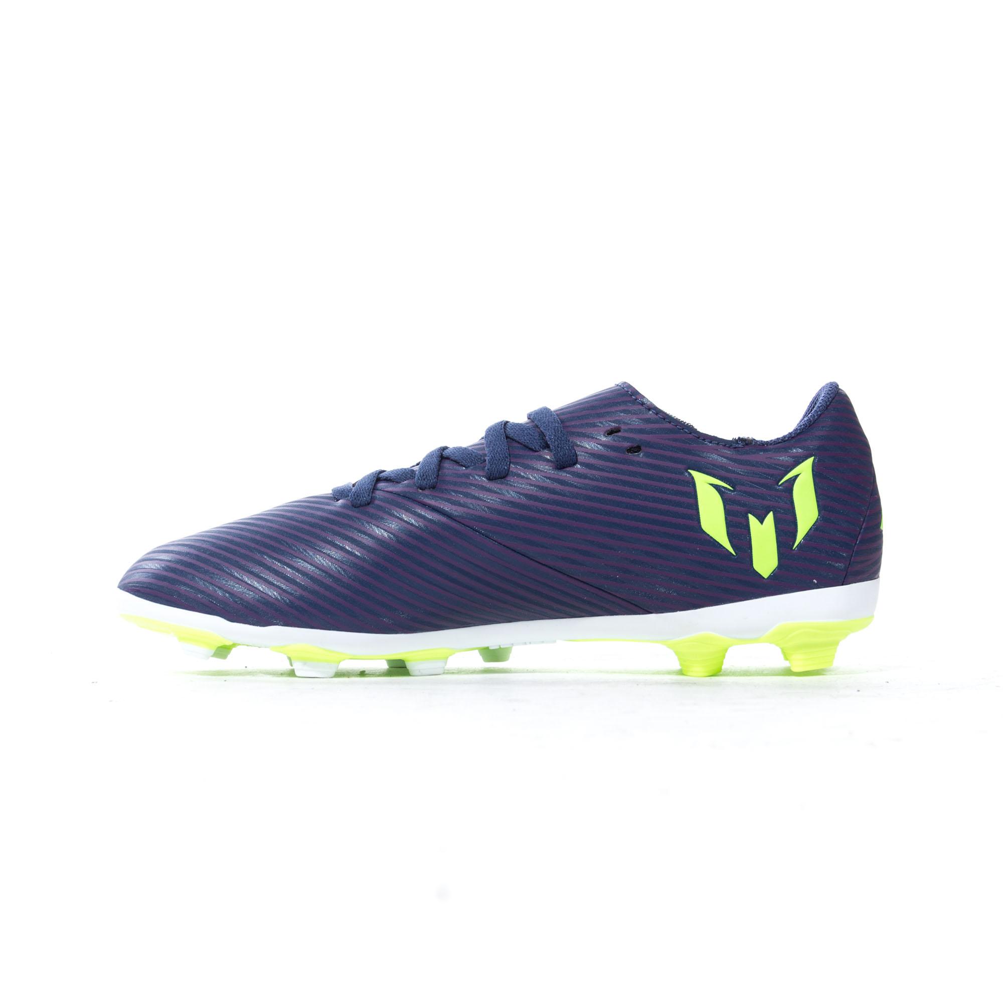 Adidas-nemeziz-Messi-19-4-FXG-Terre-Ferme-Enfants-Football-Soccer-Boot-Purple miniature 8