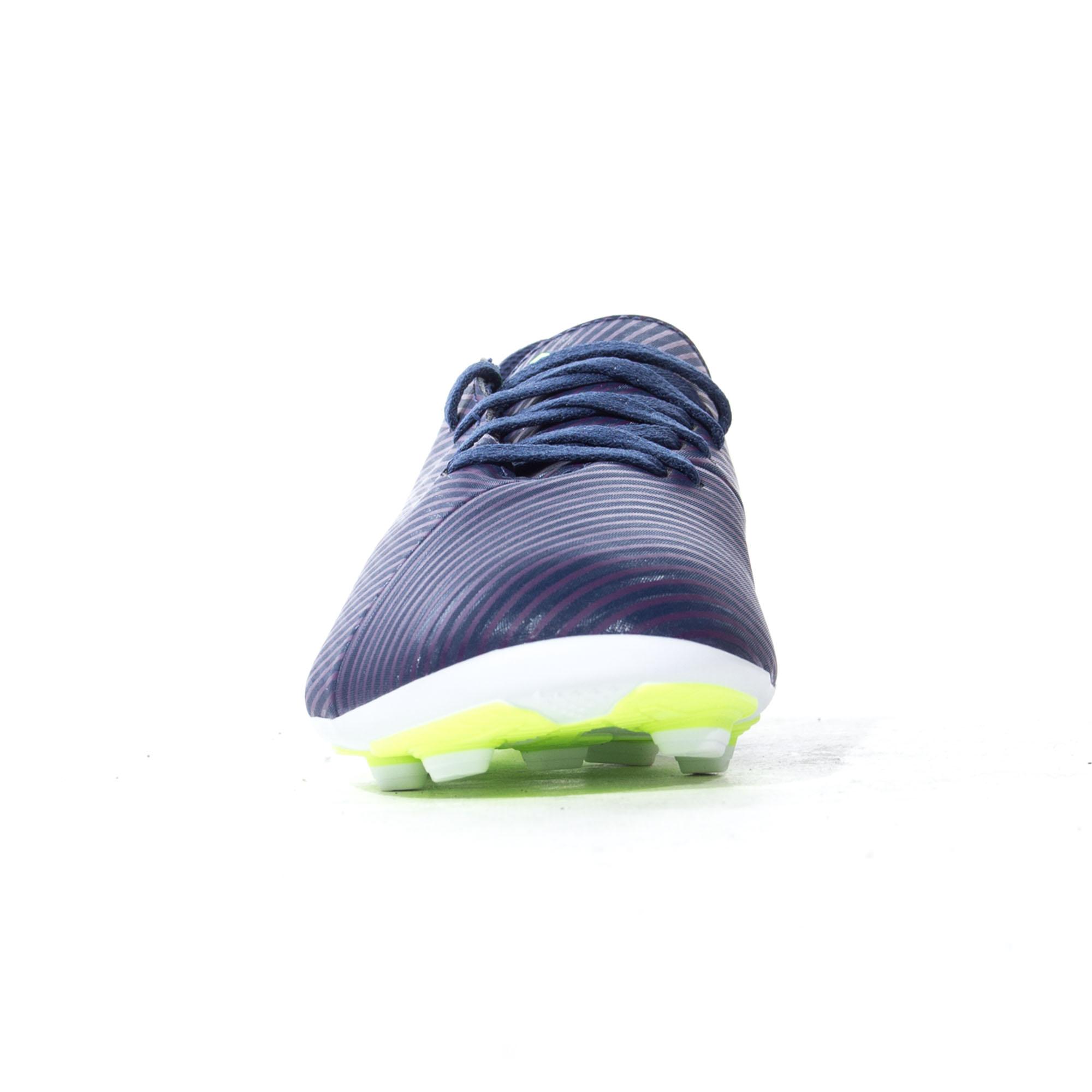 Adidas-nemeziz-Messi-19-4-FXG-Terre-Ferme-Enfants-Football-Soccer-Boot-Purple miniature 9