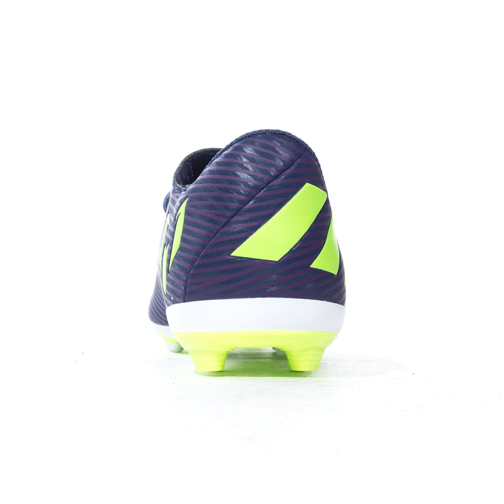 Adidas-nemeziz-Messi-19-4-FXG-Terre-Ferme-Enfants-Football-Soccer-Boot-Purple miniature 10