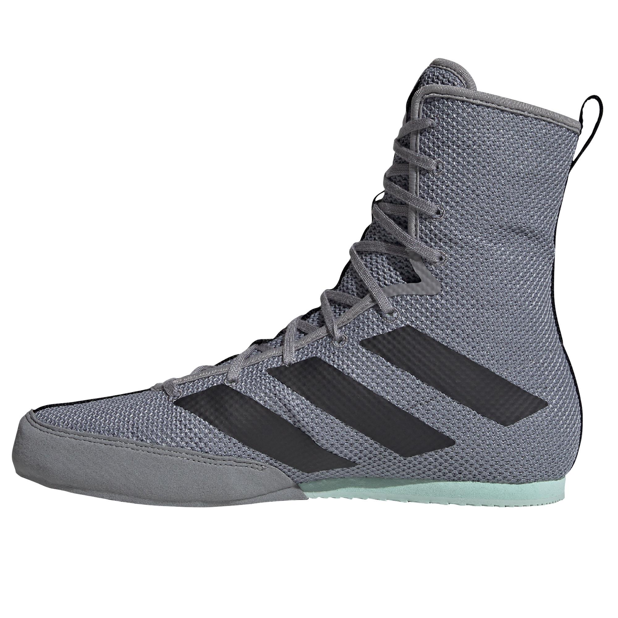 miniature 8 - Adidas Box Hog 3 boxe Trainer Shoe Boot gris/vert