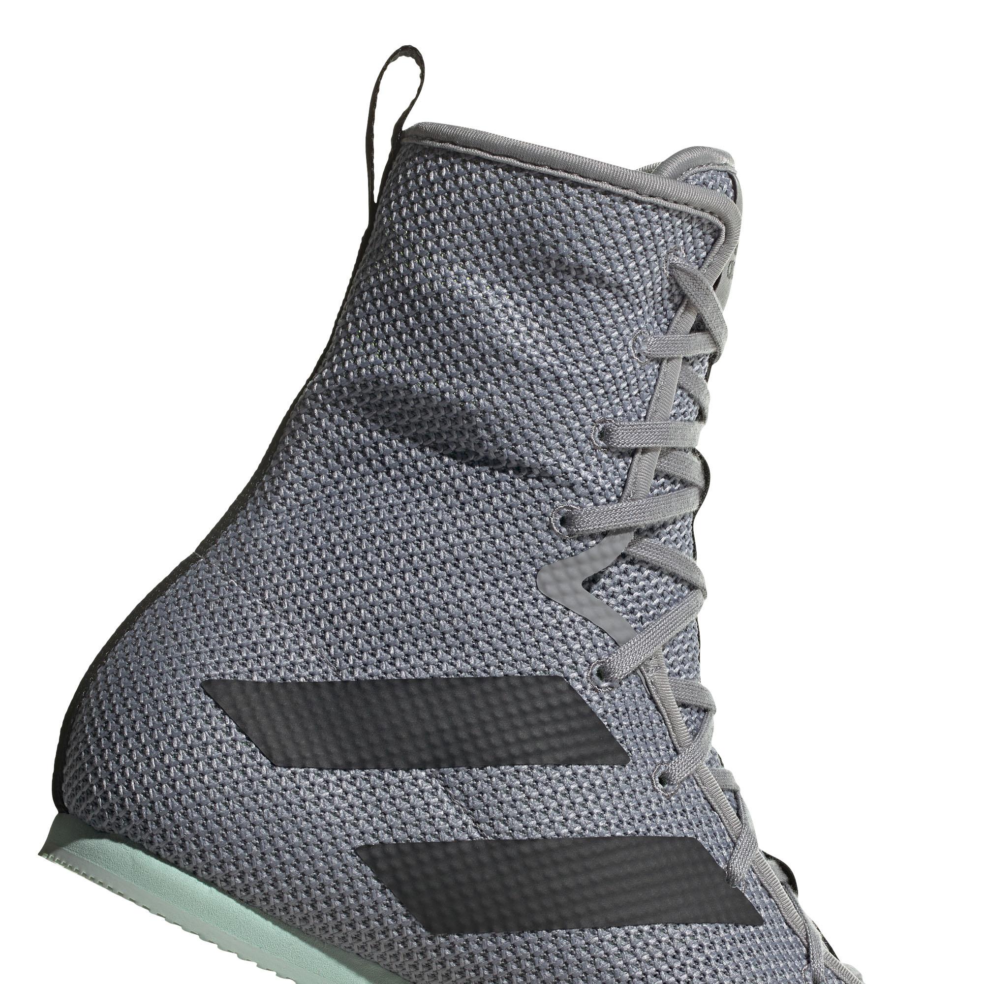 miniature 9 - Adidas Box Hog 3 boxe Trainer Shoe Boot gris/vert