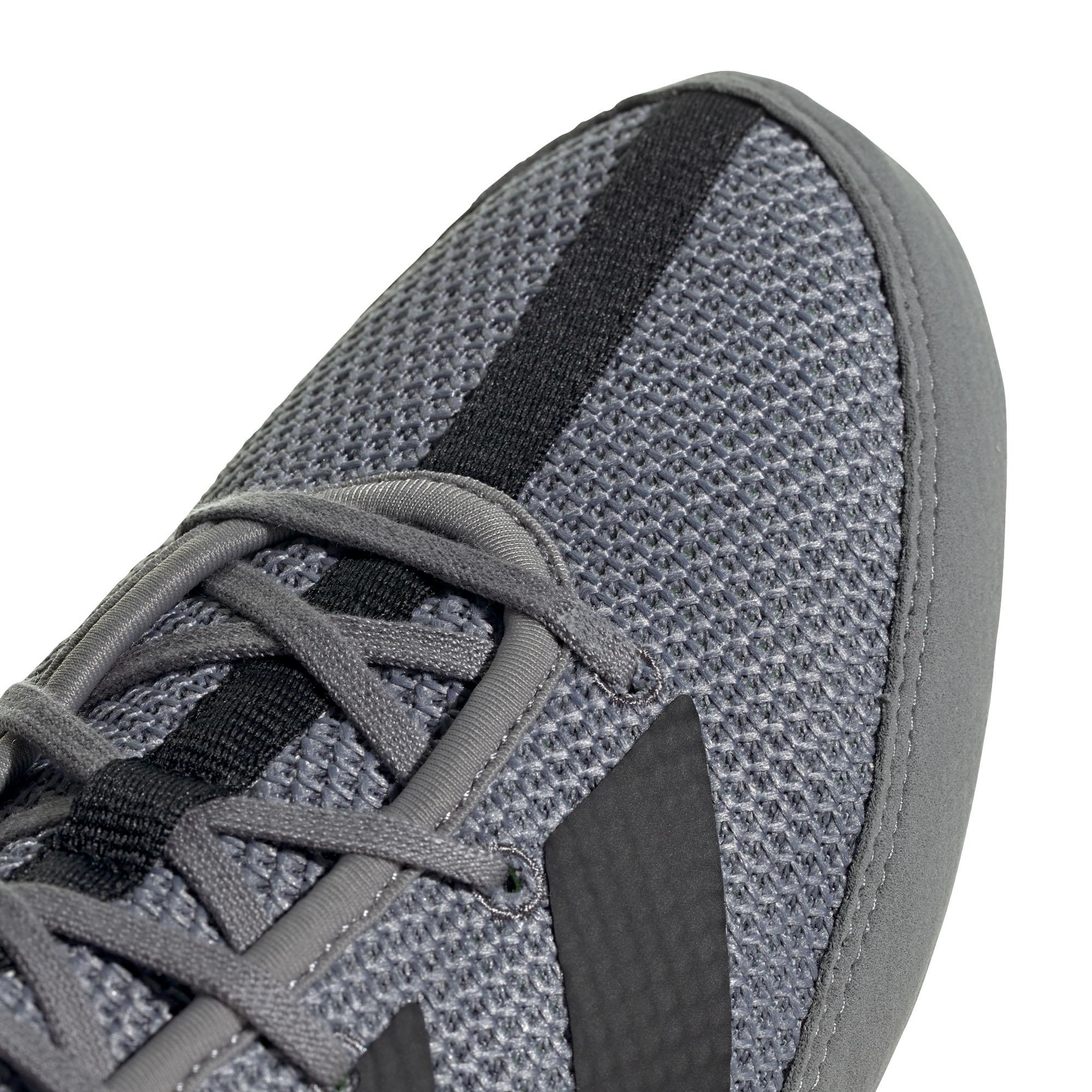 miniature 10 - Adidas Box Hog 3 boxe Trainer Shoe Boot gris/vert