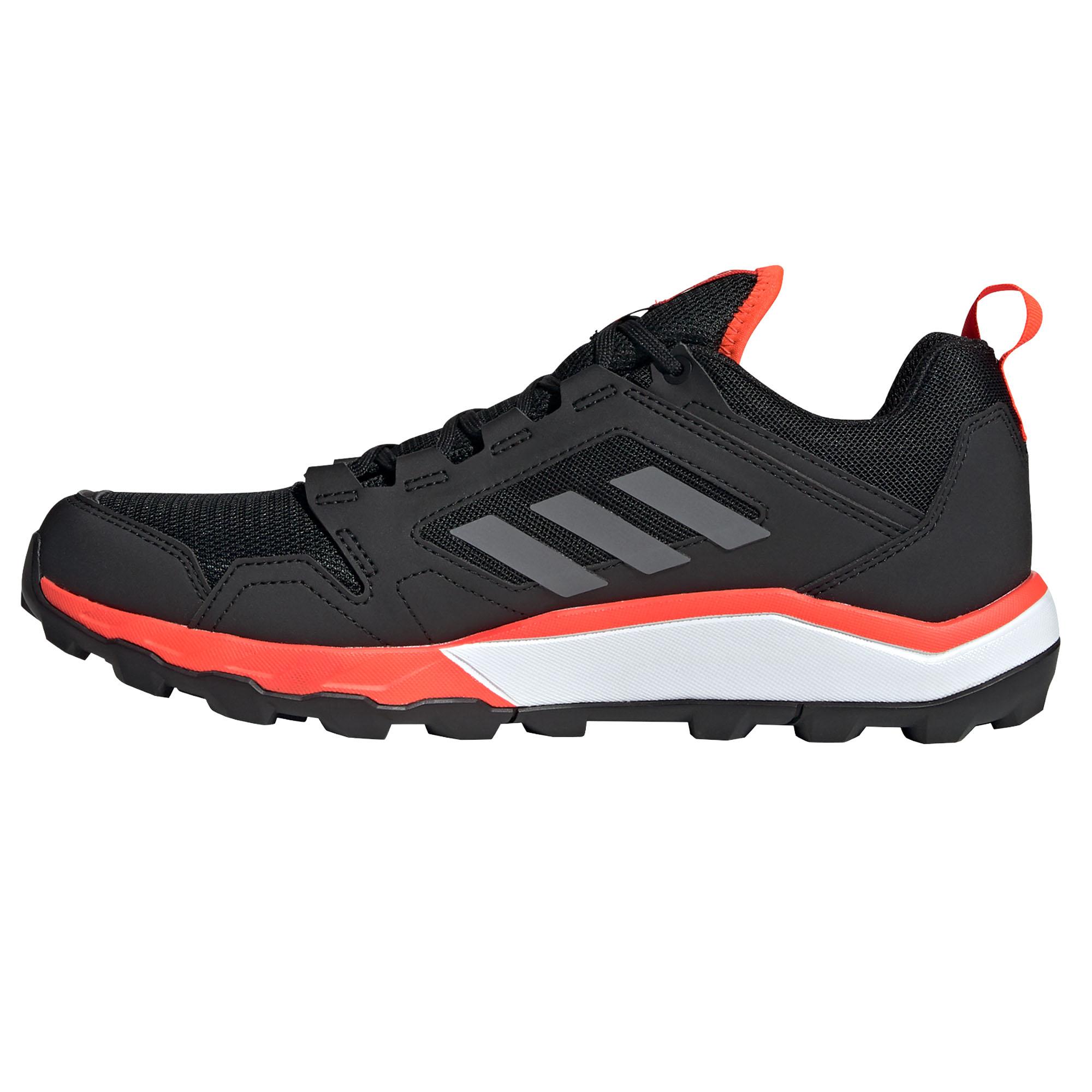 Adidas-Terrex-en-apesanteur-GTX-Homme-Trail-Running-Trainer-Shoe-Black-Red miniature 8