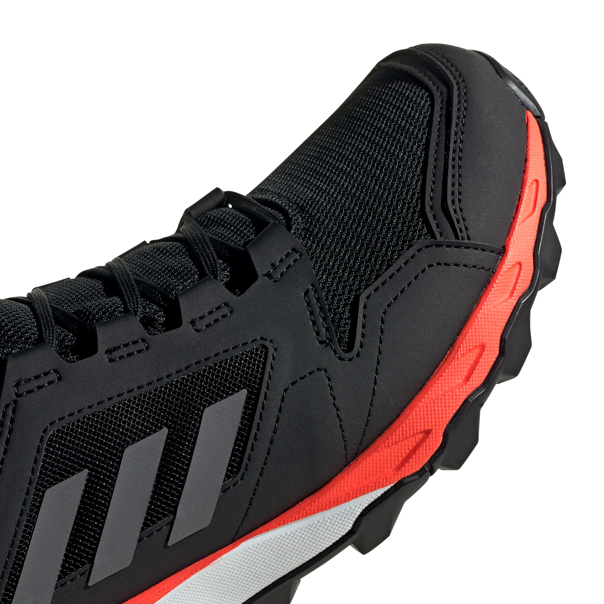 miniature 10 - Adidas-Terrex-en-apesanteur-GTX-Homme-Trail-Running-Trainer-Shoe-Black-Red