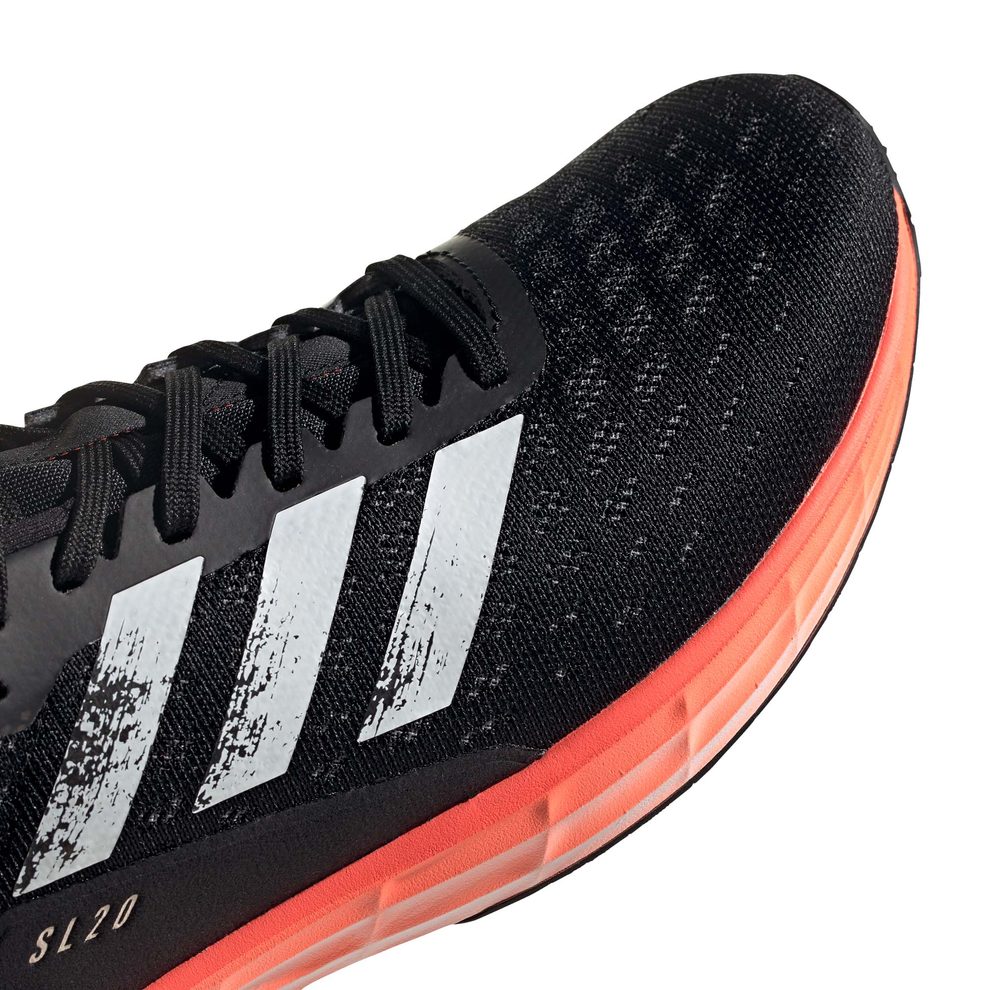 Dettagli su Adidas SL20 Uomo Running Corsa Scarpa NeroBiancoRosso
