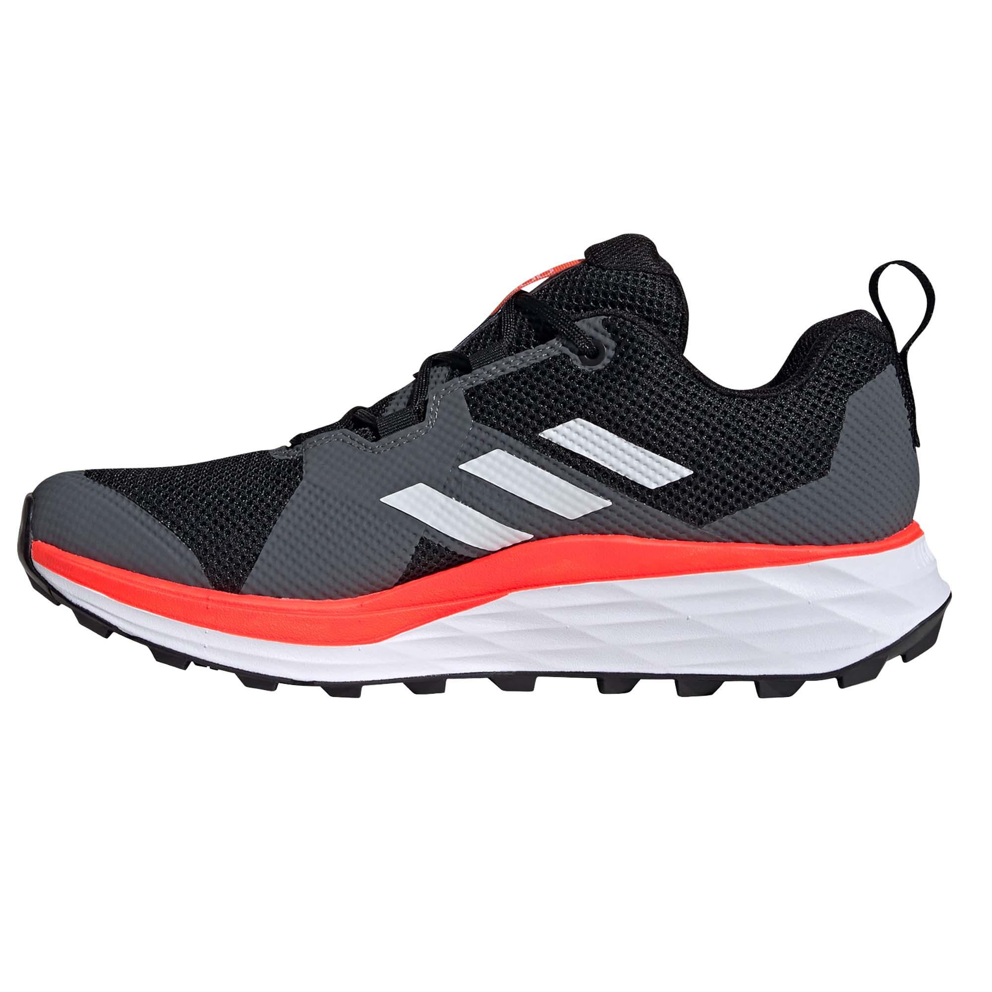 miniatura 8 - ADIDAS Terrex Due Da Uomo Scarpa Trail Running Scarpe da ginnastica nero/bianco/rosso