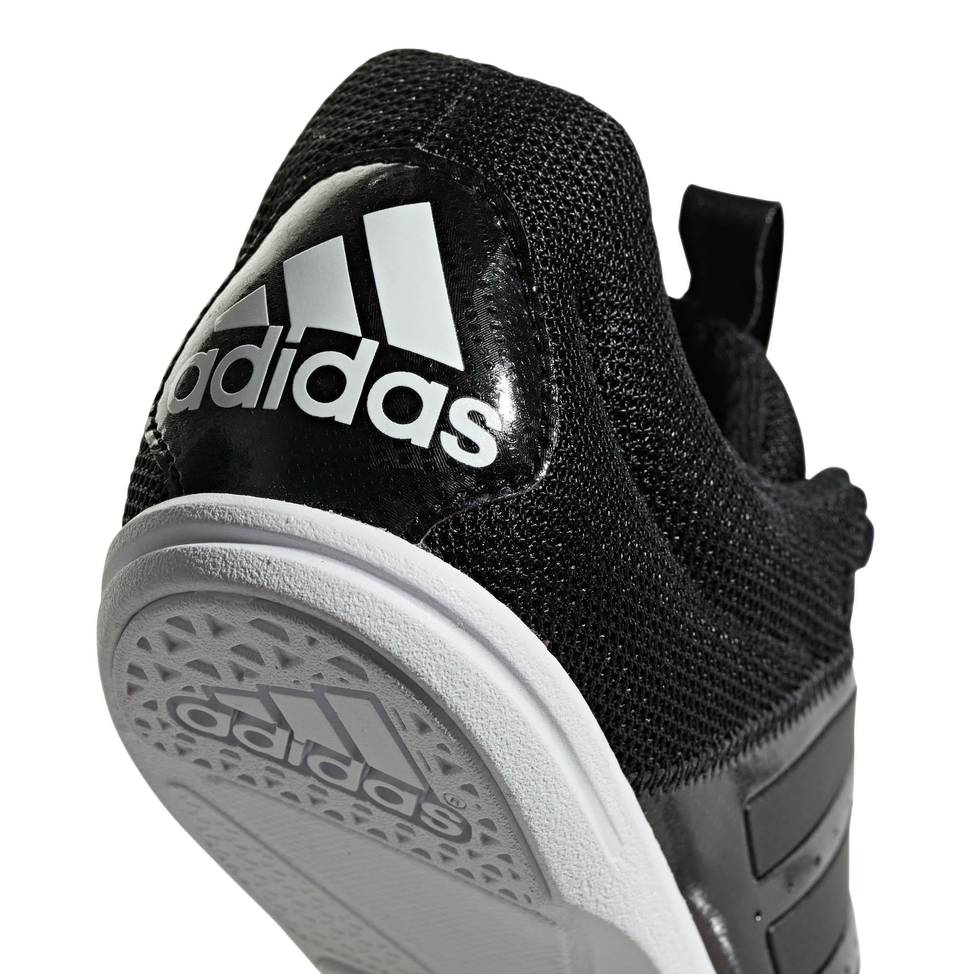 8aa3eb98584f7b Adidas Allroundstar Kinder Laufschuhe Spike Turnschuhe Schwarz Weiß ...