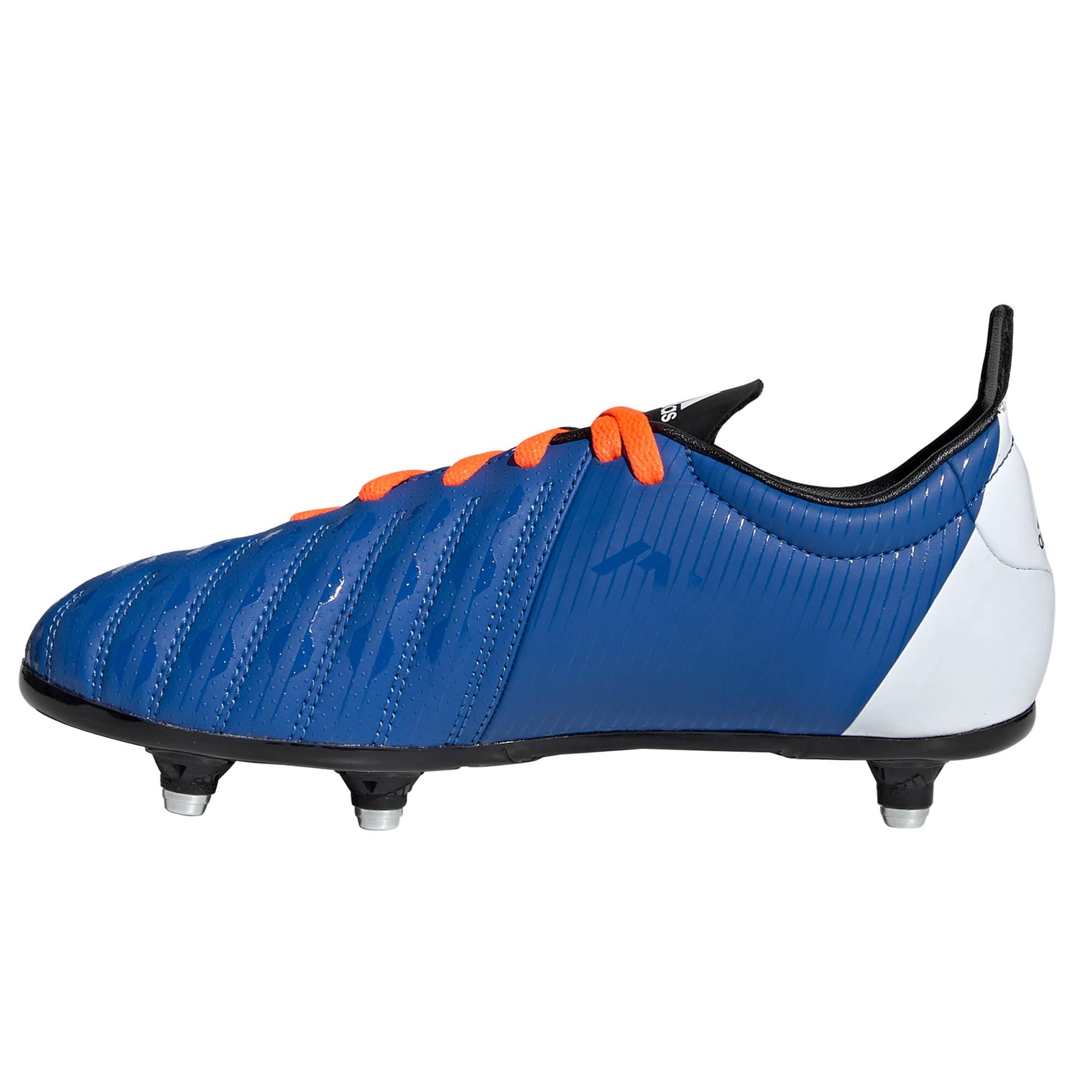 adidas Malice SG Soft Ground Junior Kids Rugby Boot Blue//Orange