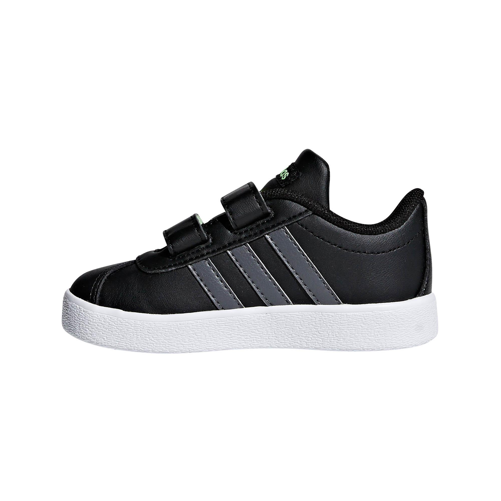 Détails sur Adidas Vl Escarpin 2.0 Enfant Enfants Garçons Sports Basket Chaussure Noir