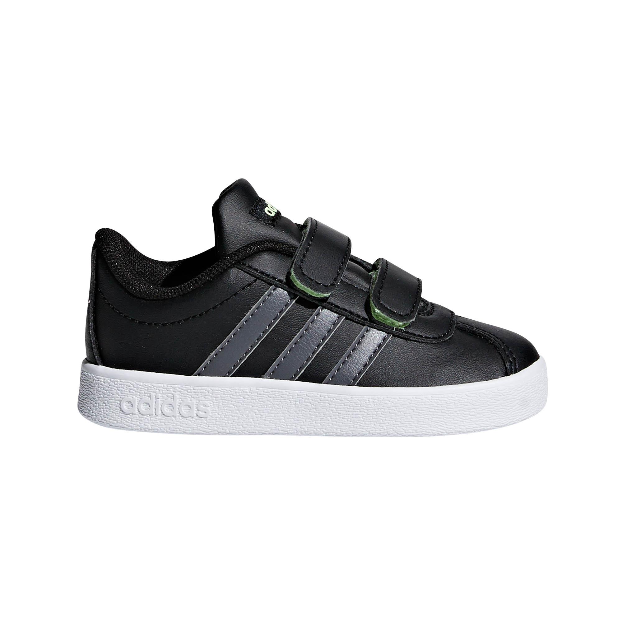 e2bef890b8d3 Details about adidas VL Court 2.0 Infant Kids Boys Sports Trainer Shoe Black