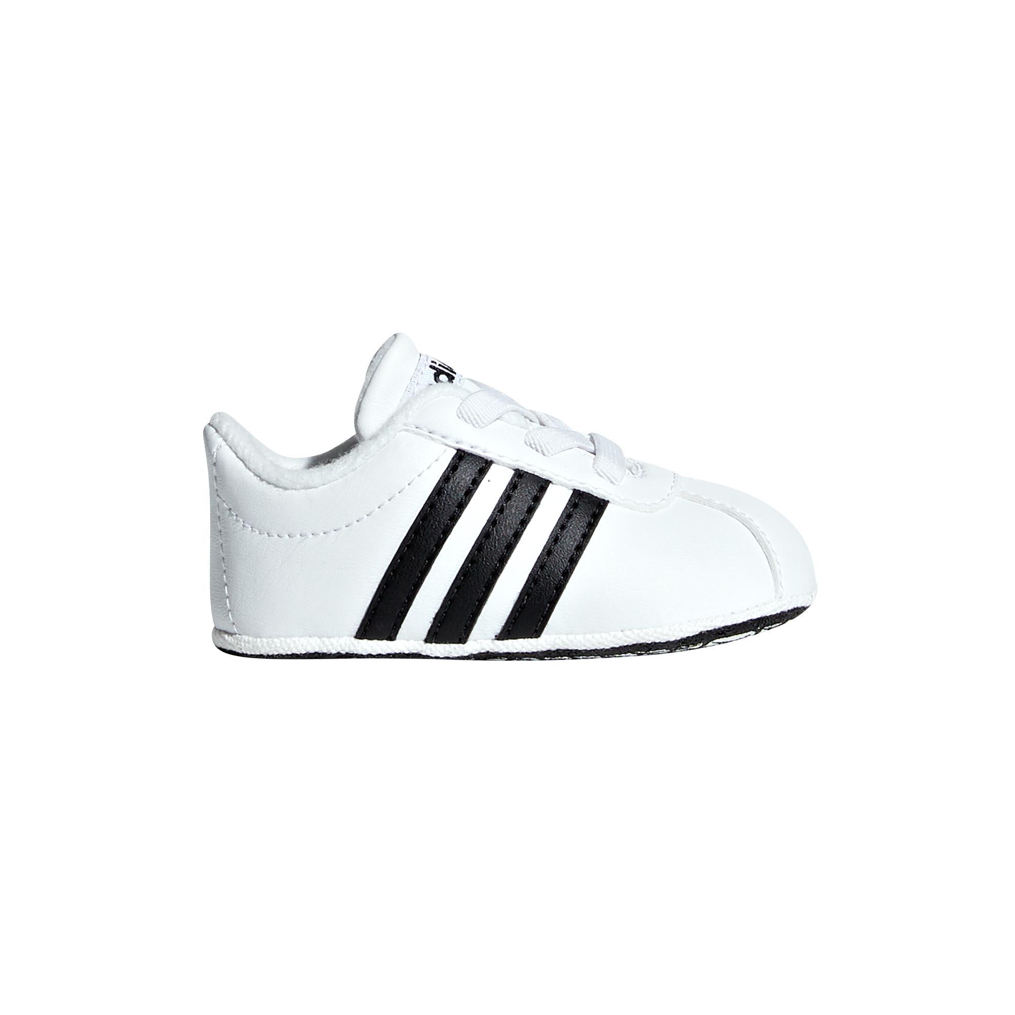 Details about adidas VL Court 2.0 Infant Baby Toddler Kids Boys Crib Shoe WhiteBlack UK 1