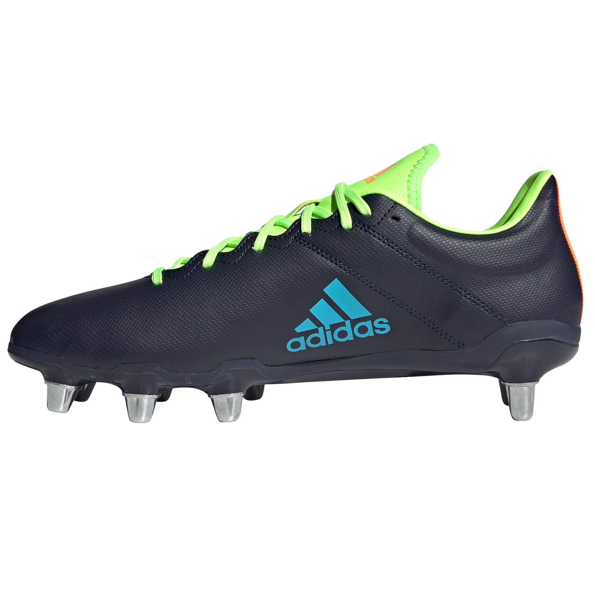 miniature 7 - Adidas Kakari SG Soft Ground pour homme Rugby Union Boot bleu marine/vert