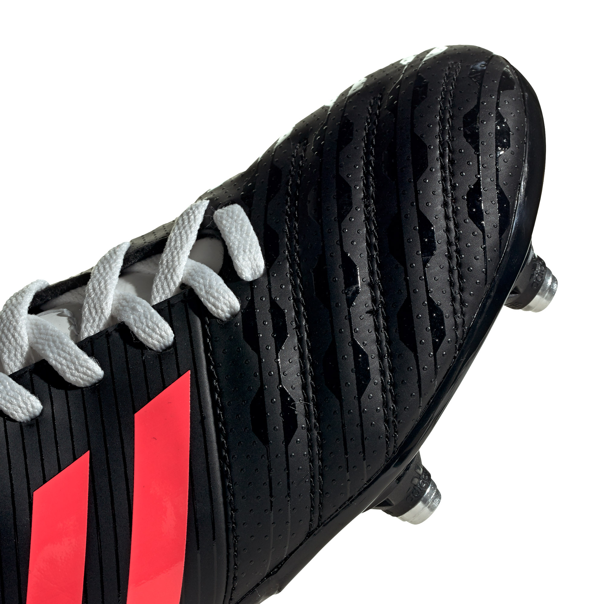 miniature 10 - Adidas Malice SG Terrain Souple Junior Enfants Rugby Boot Noir/Rose
