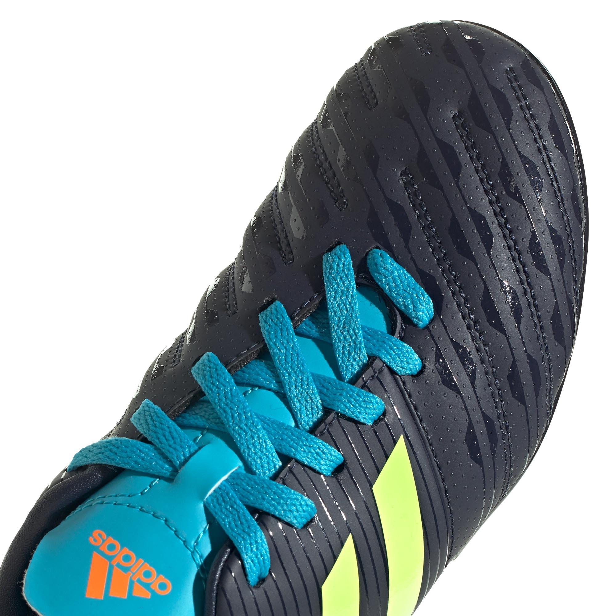 miniature 9 - Adidas Malice SG Terrain Souple Junior Enfants Rugby Bottes Bleu Marine/Vert