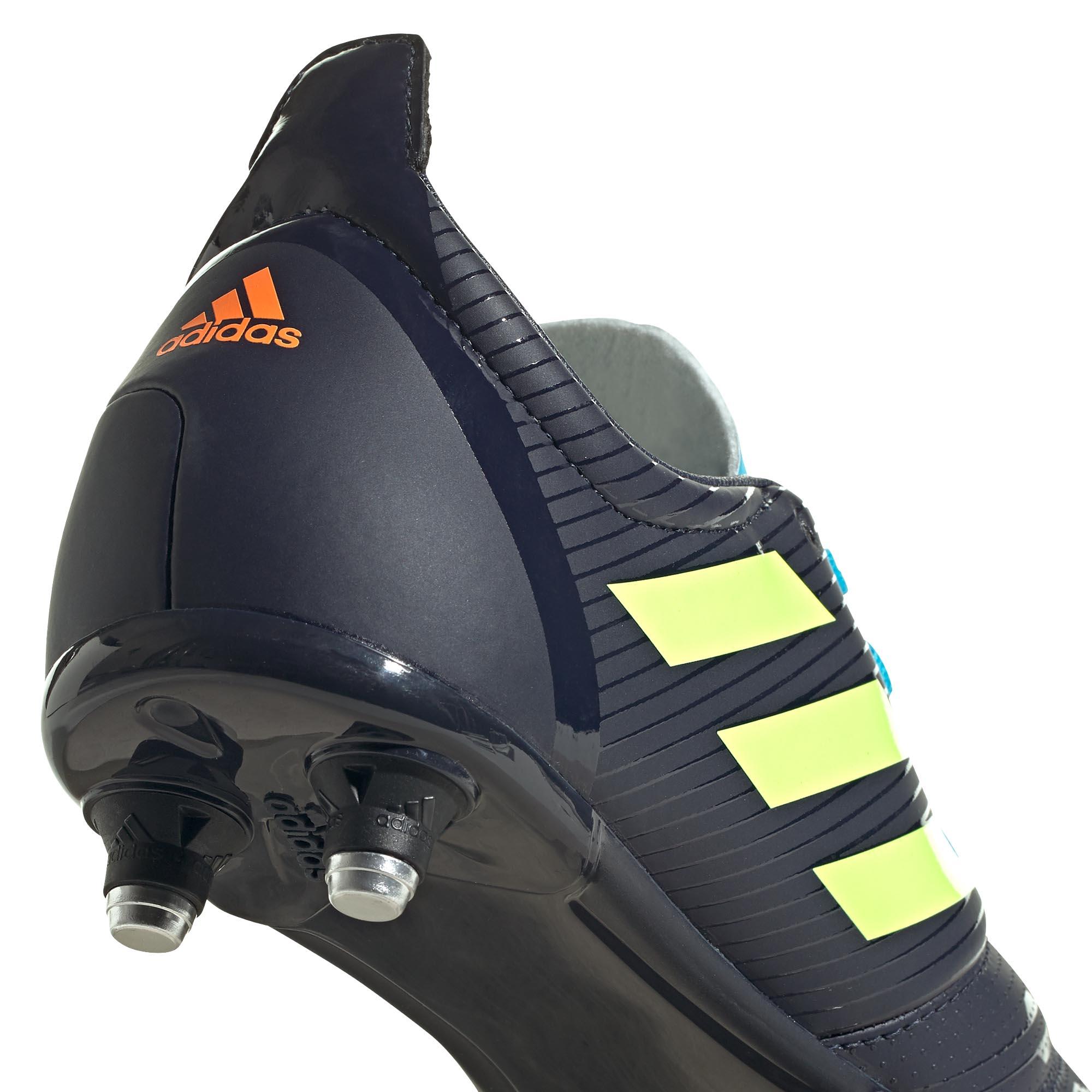 miniature 10 - Adidas Malice SG Terrain Souple Junior Enfants Rugby Bottes Bleu Marine/Vert