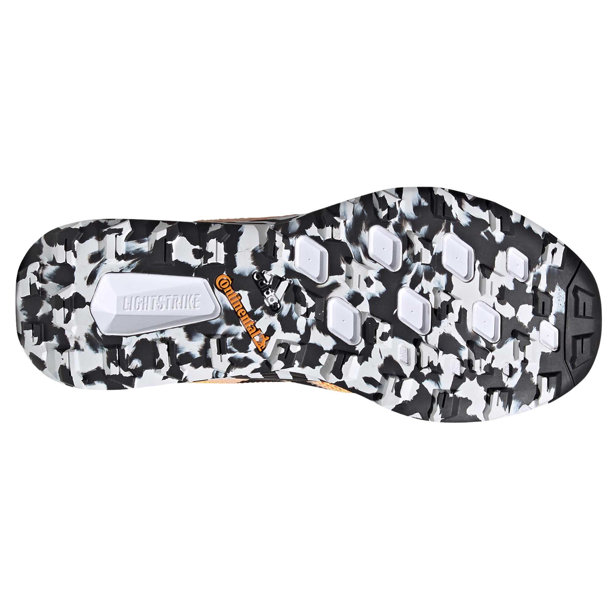 miniature 7 - Adidas-Terrex-deux-homme-trail-running-Trainer-Shoe-Or-Noir-Blanc