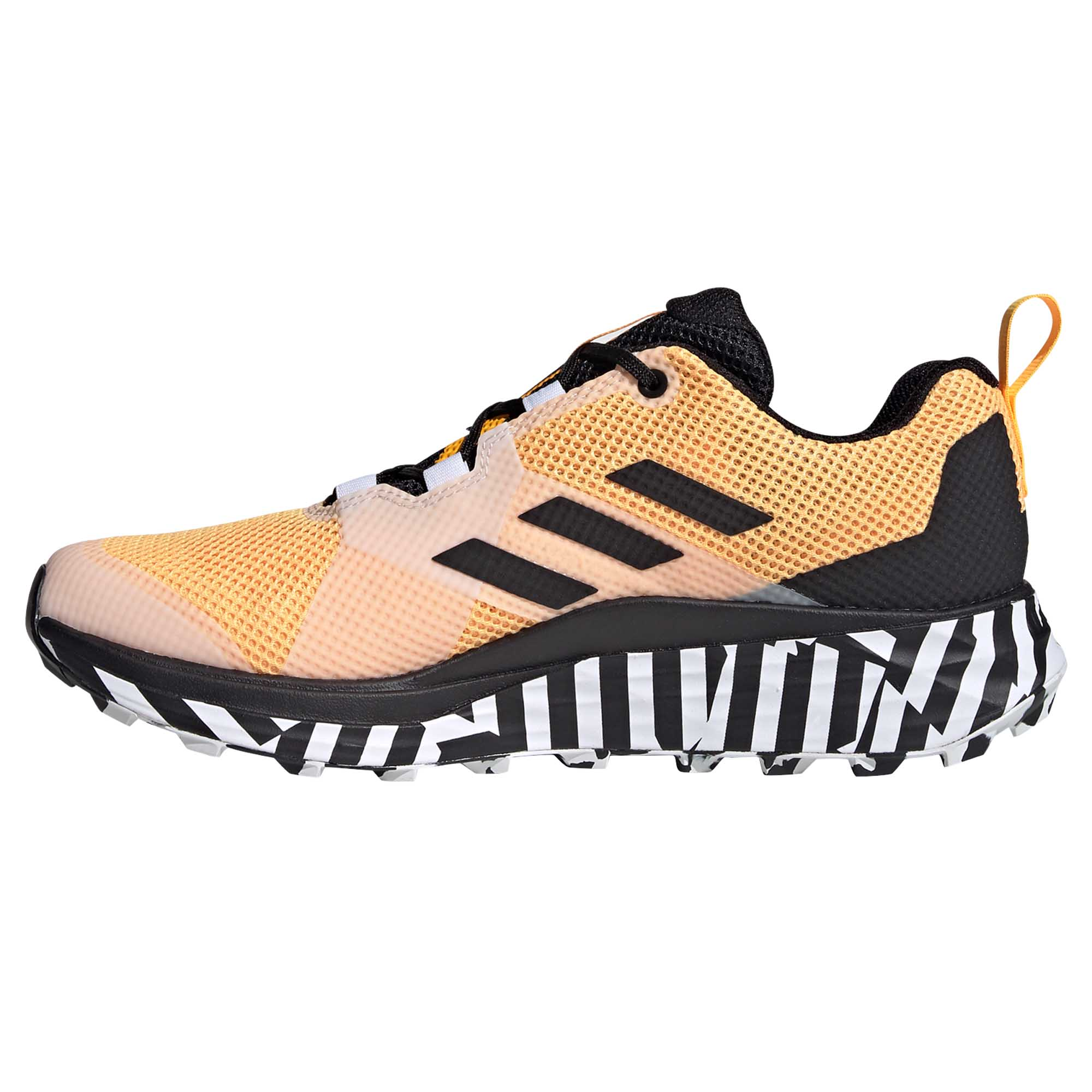 miniature 8 - Adidas-Terrex-deux-homme-trail-running-Trainer-Shoe-Or-Noir-Blanc
