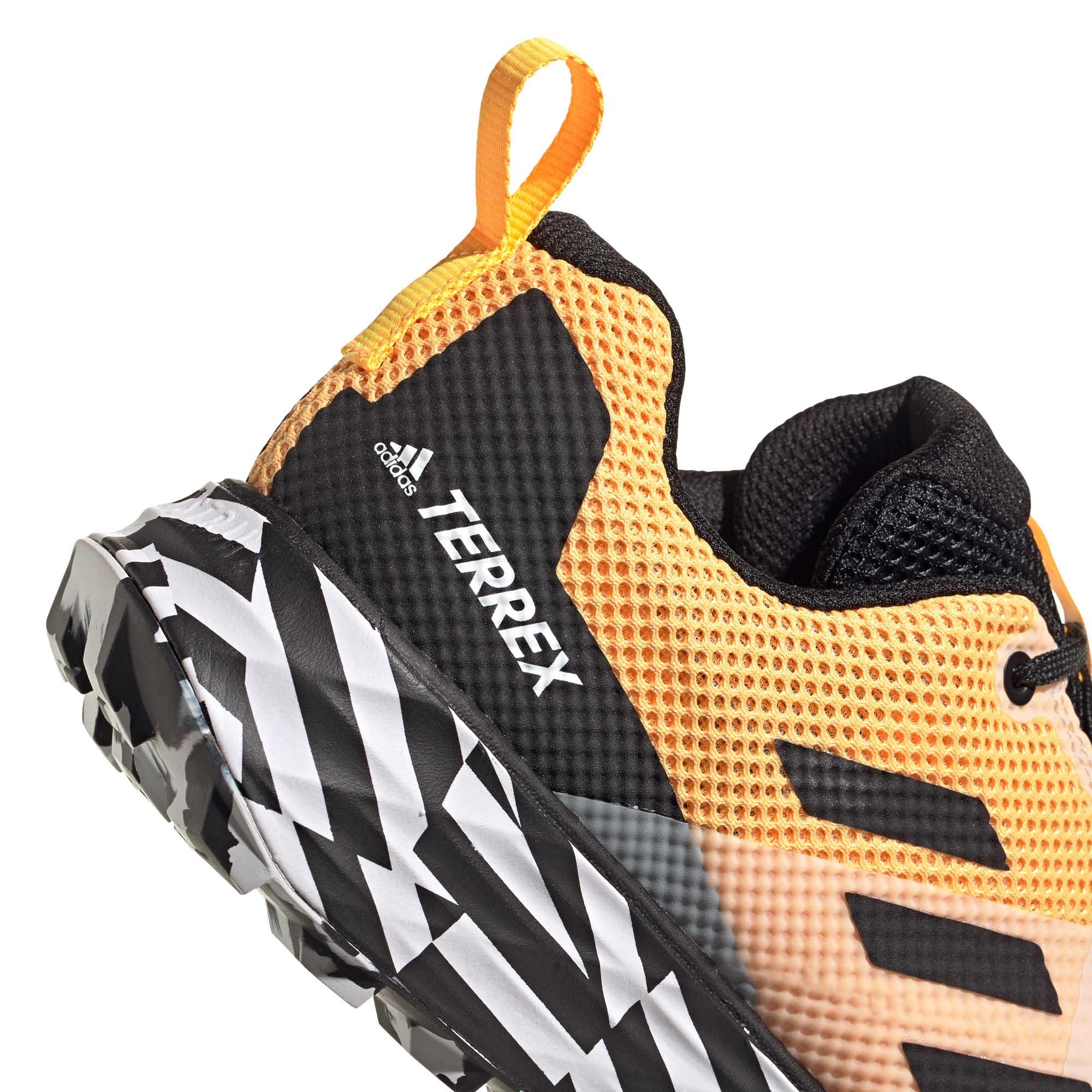miniature 9 - Adidas Terrex deux homme trail running Trainer Shoe Or/Noir/Blanc