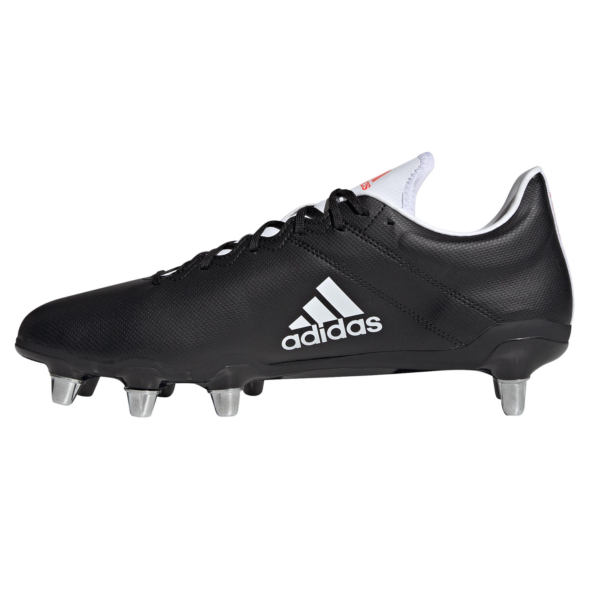 miniature 7 - Adidas Kakari SG Terrain Souple Adulte Unisexe Rugby Union Boot Noir/Blanc