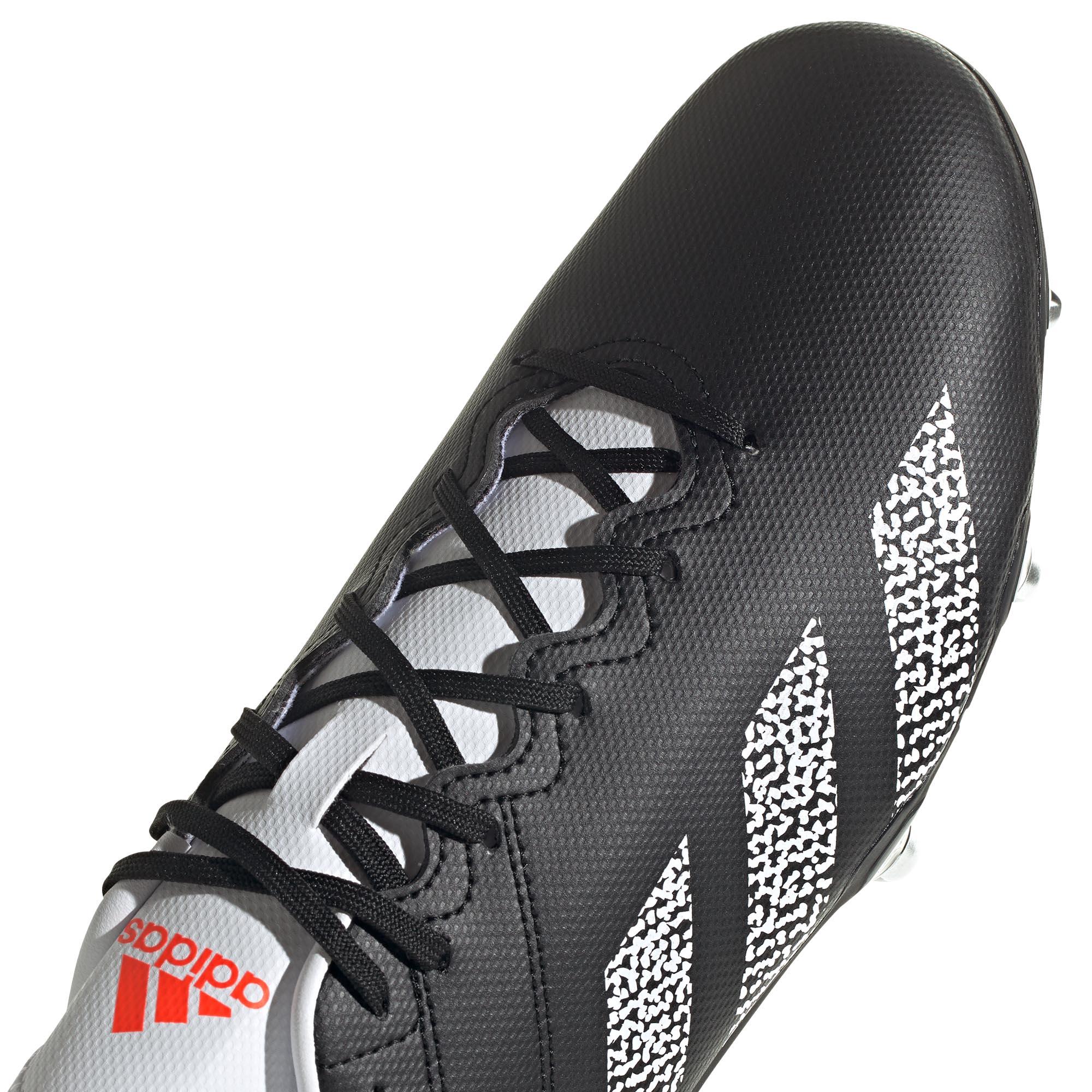 miniature 8 - Adidas Kakari SG Terrain Souple Adulte Unisexe Rugby Union Boot Noir/Blanc