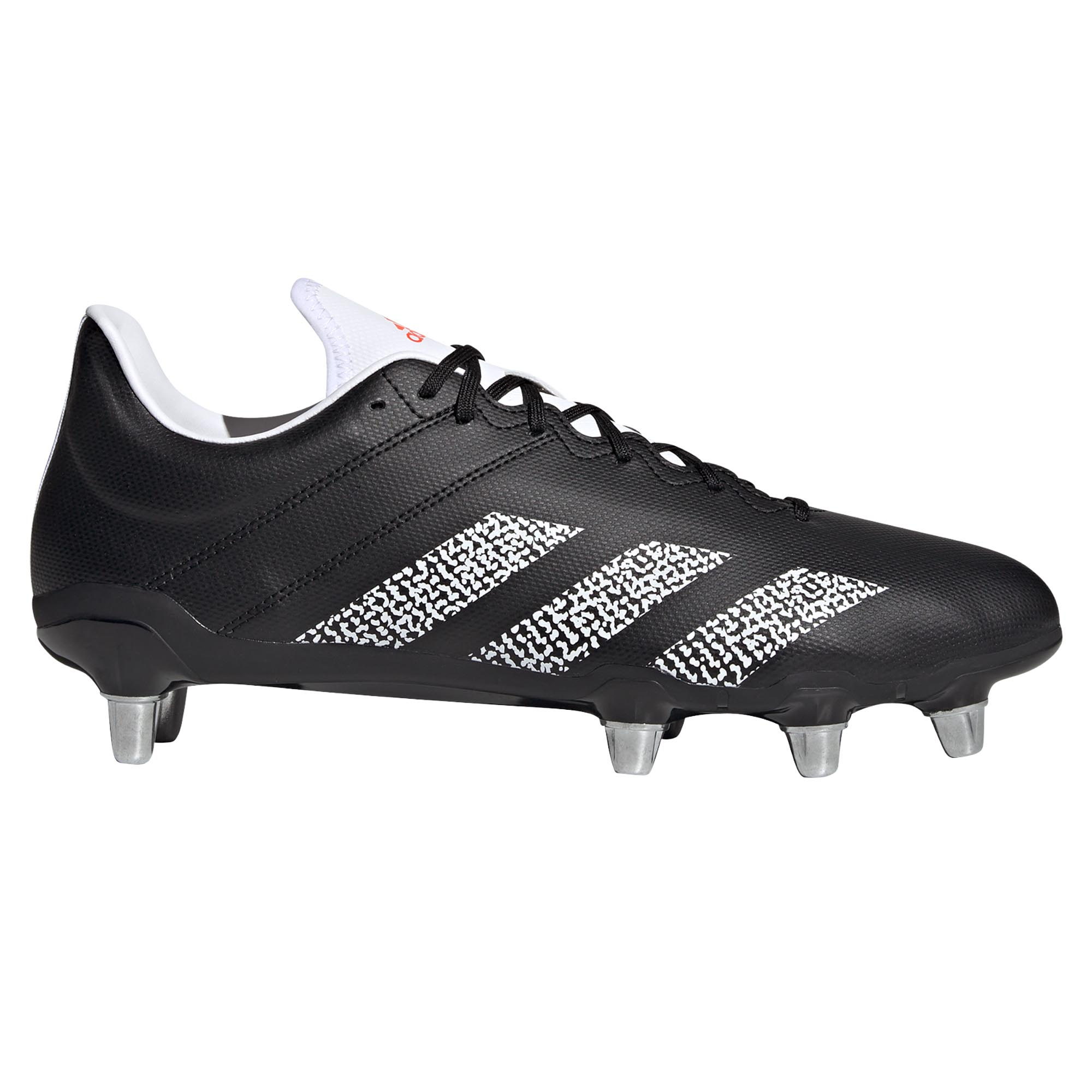 miniature 5 - Adidas Kakari SG Terrain Souple Adulte Unisexe Rugby Union Boot Noir/Blanc
