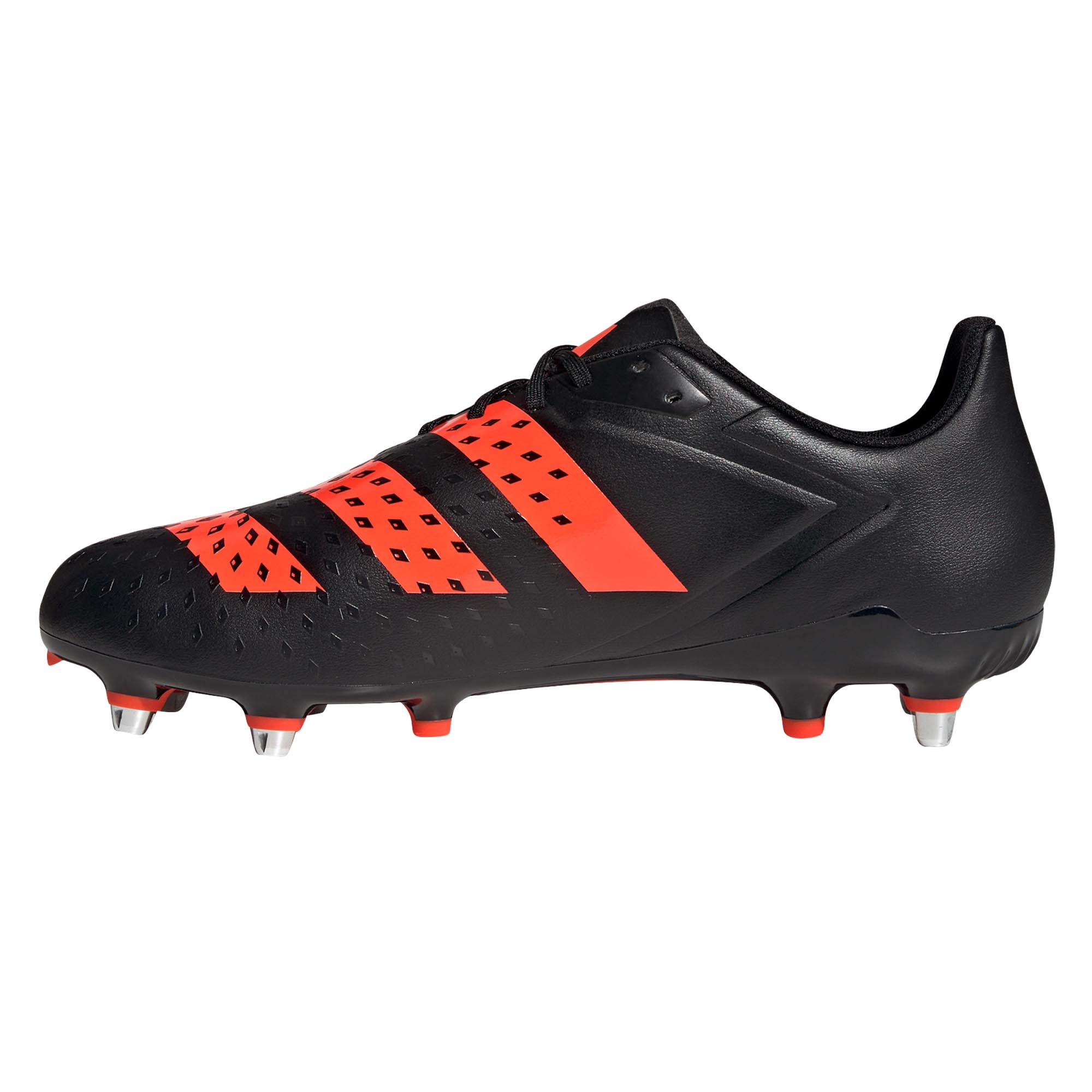 miniature 7 - Adidas Malice SG Terrain Souple Adulte Unisexe Rugby Boot Noir/Rouge