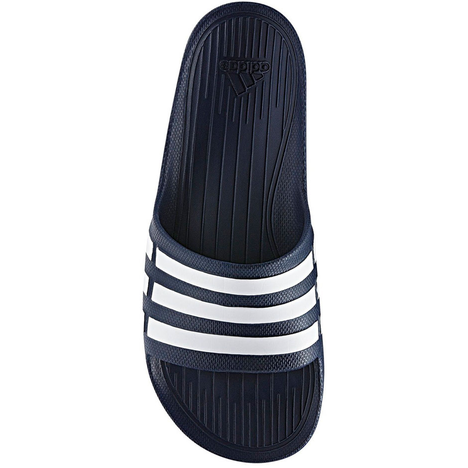 buy popular 14db9 63eca adidas Duramo Mens Slide Flip Flop Sandal Bleu marine