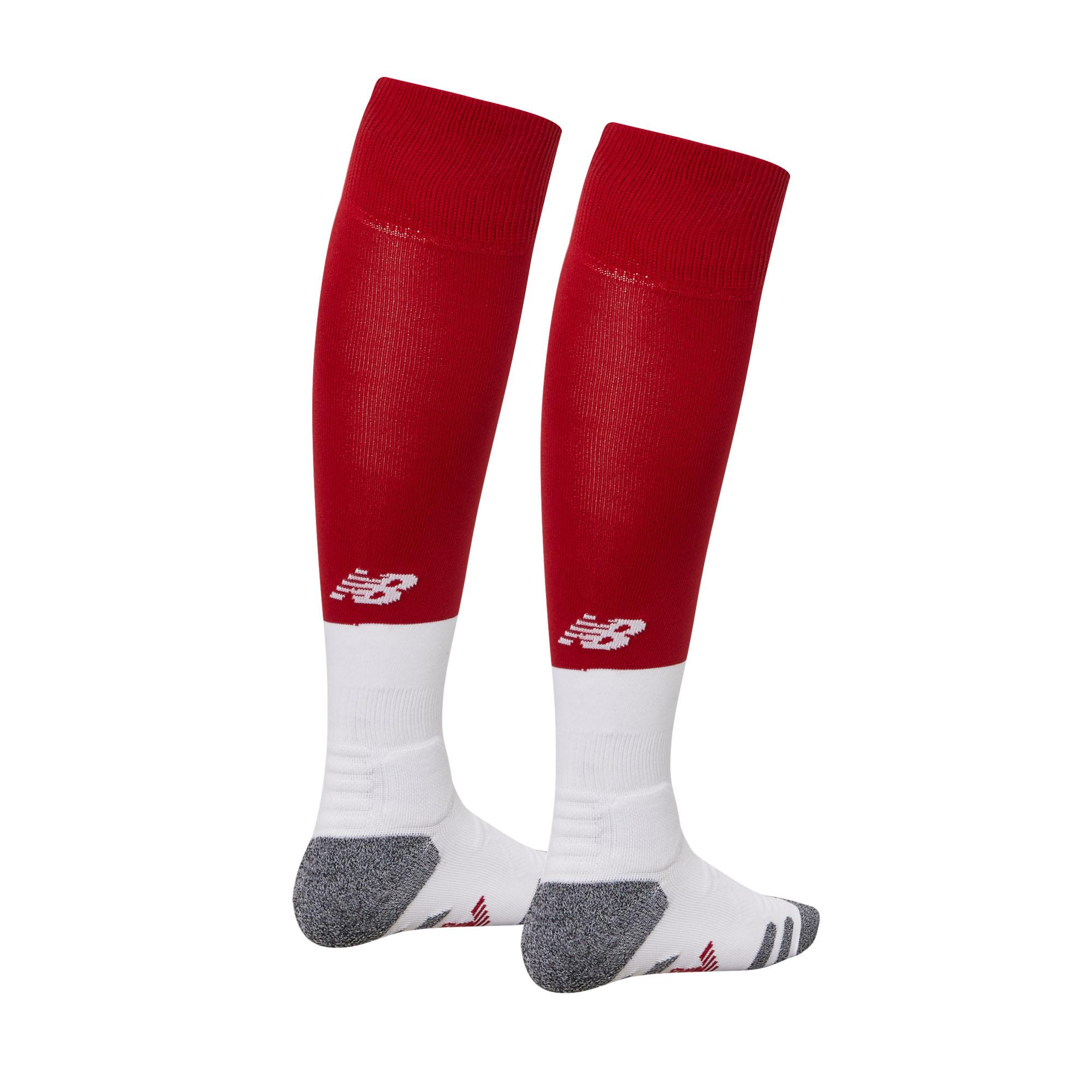 105d08106 New Balance Liverpool 2019/20 Junior Kids Home Football Socks Red   eBay