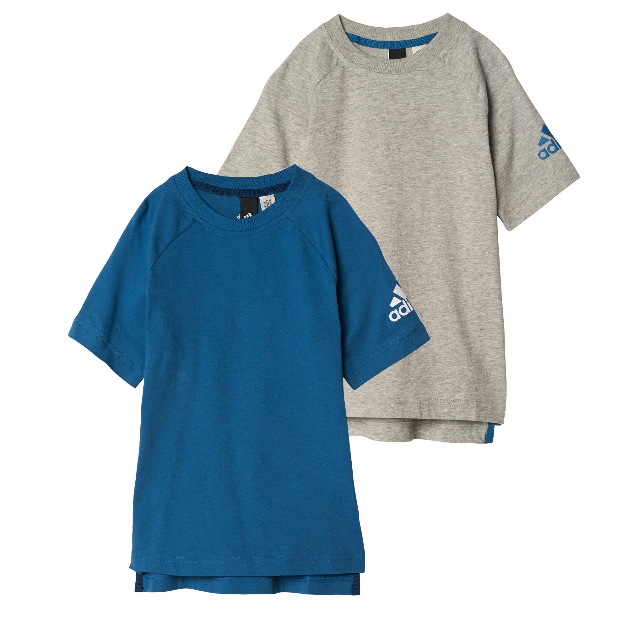 fab52cb85 adidas Little Boys Logo Kids Cotton T-Shirt Grey - 5-6 Years ...